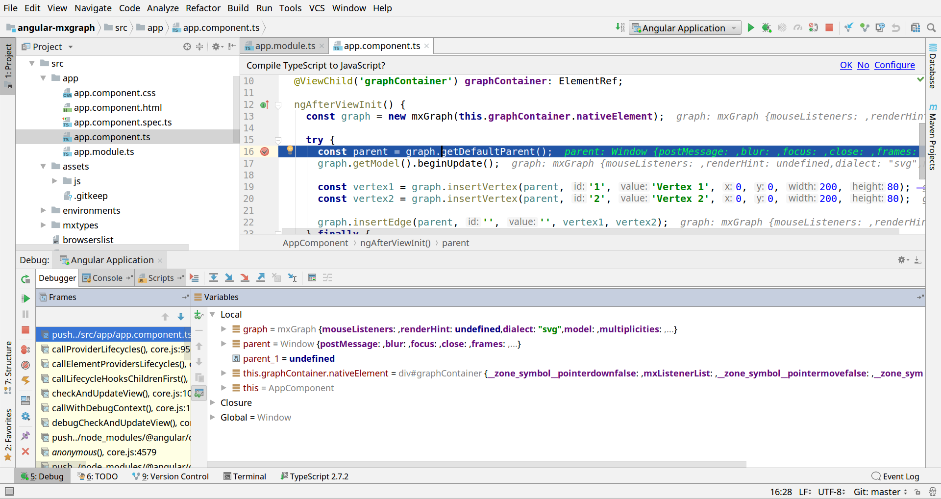 Debugging your Angular application in Intellij IDEA