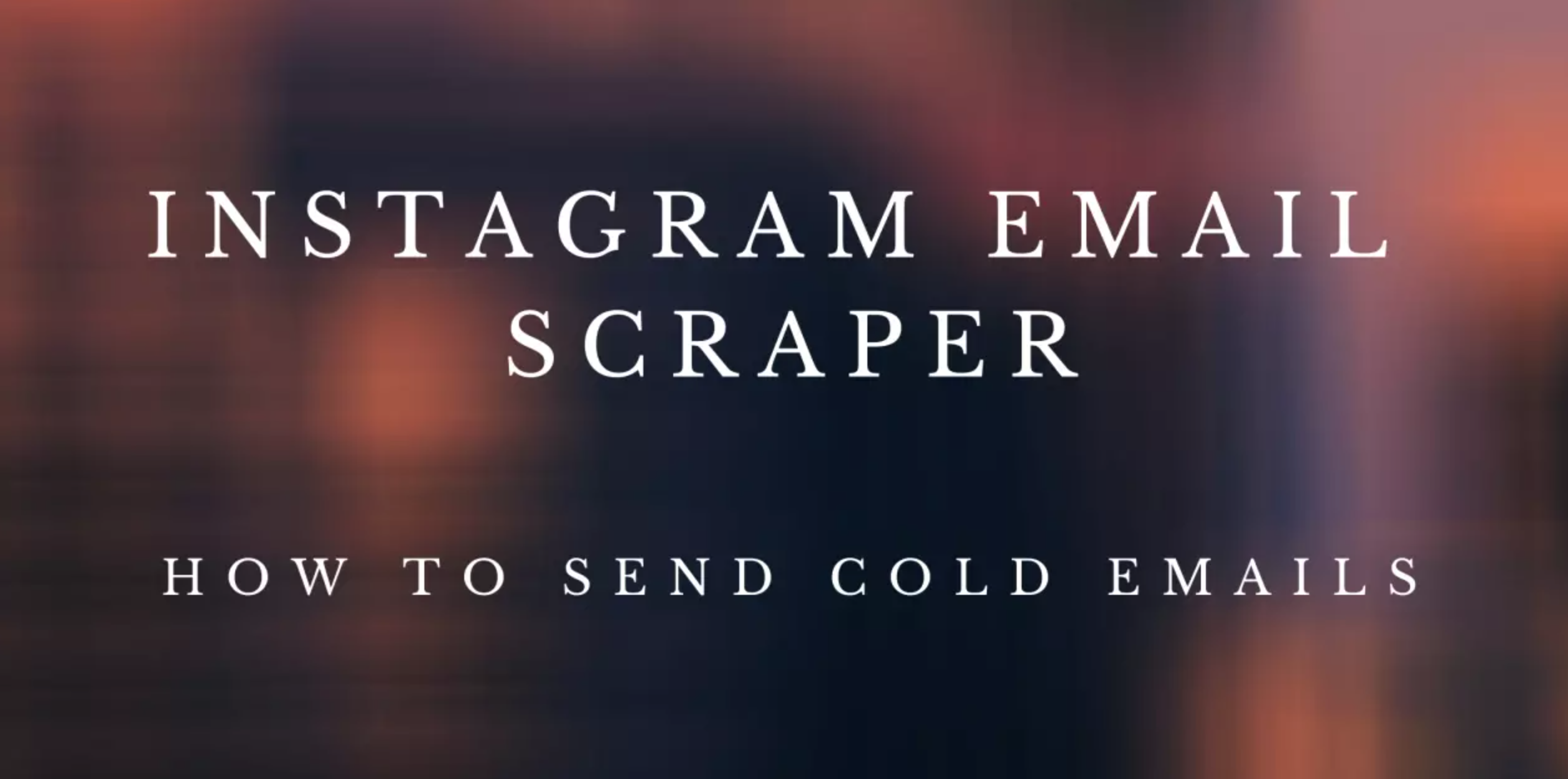 Email scraper for Instagram