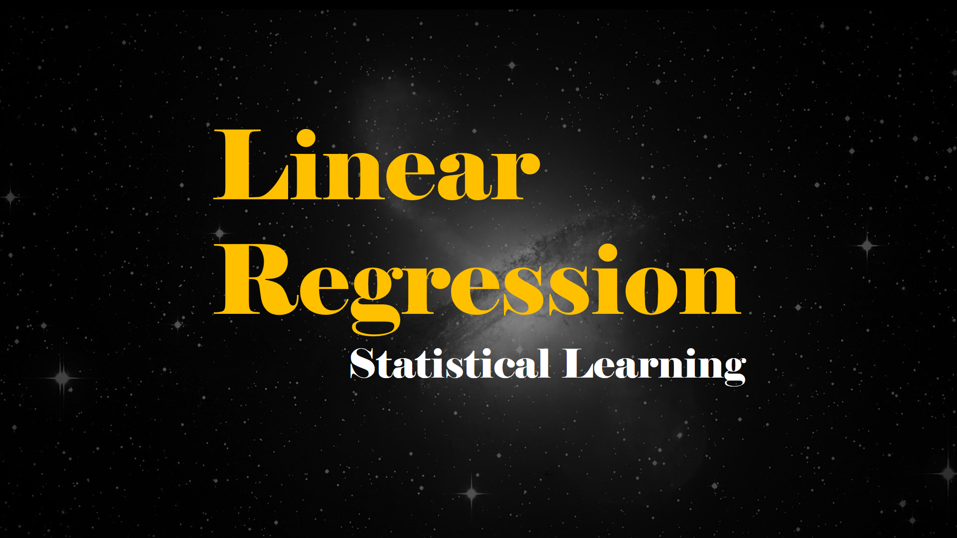 Linear Regression — Statistical Learning - Analytics Vidhya
