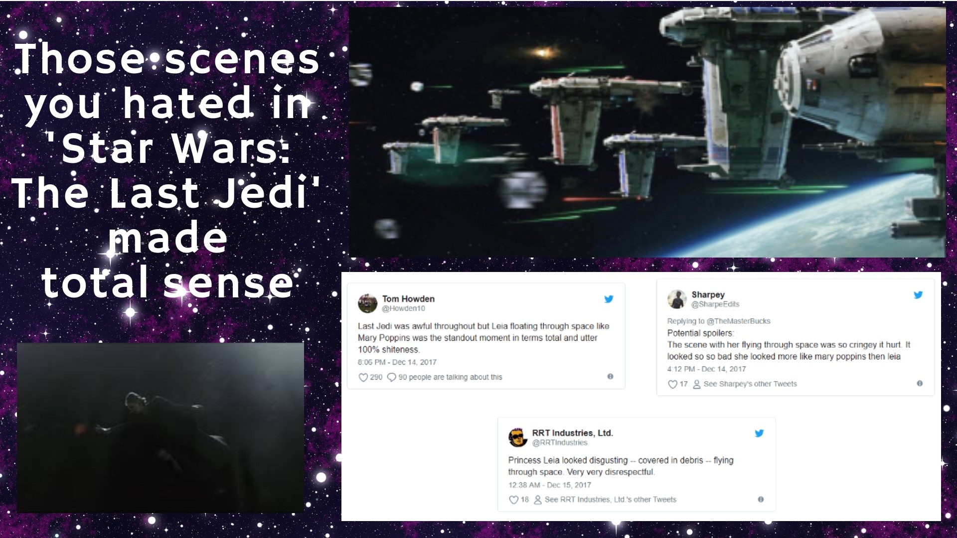 Those scenes you hated in 'Star Wars: The Last Jedi' made