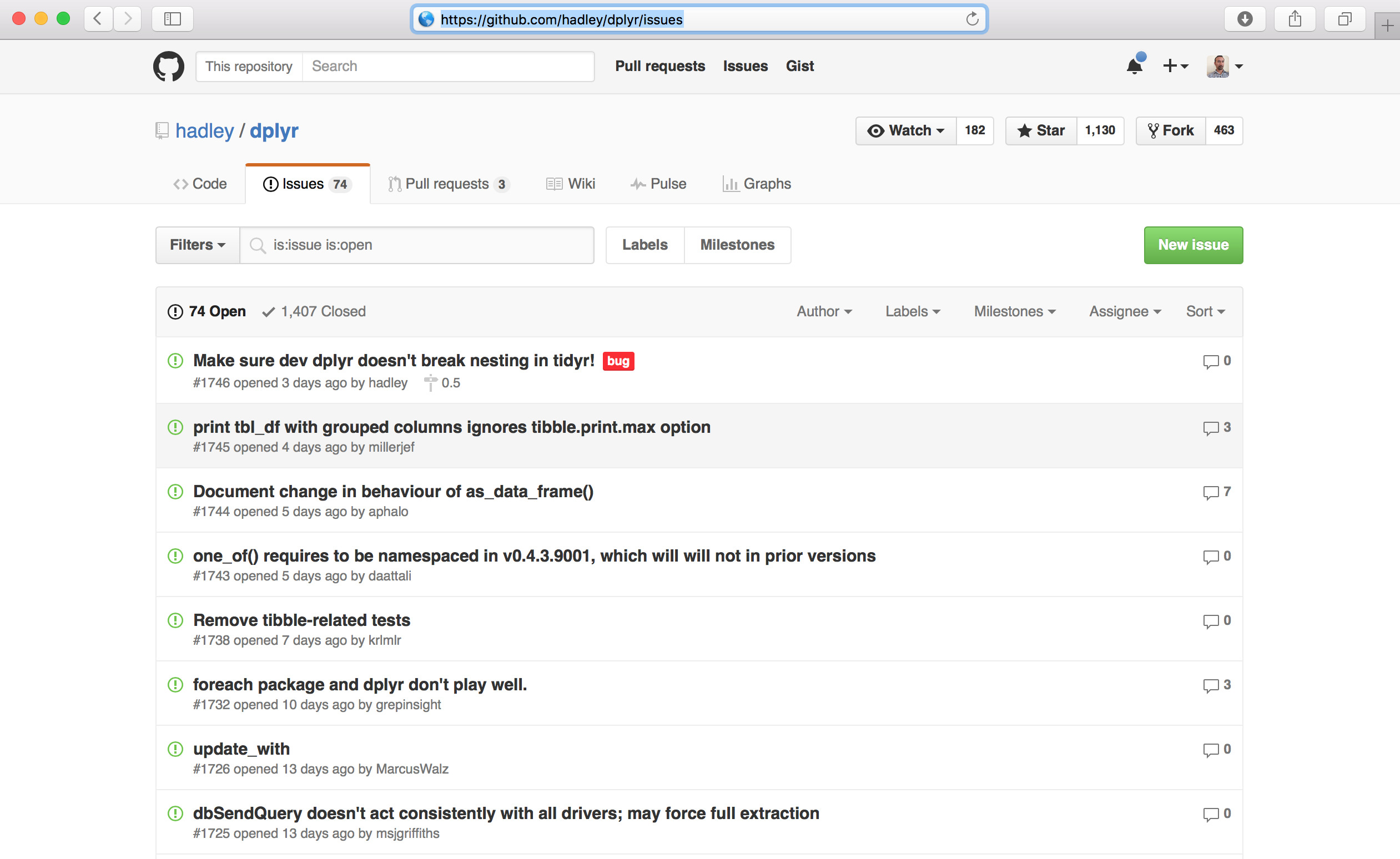 Analyzing issue data with Github REST API - learn data science