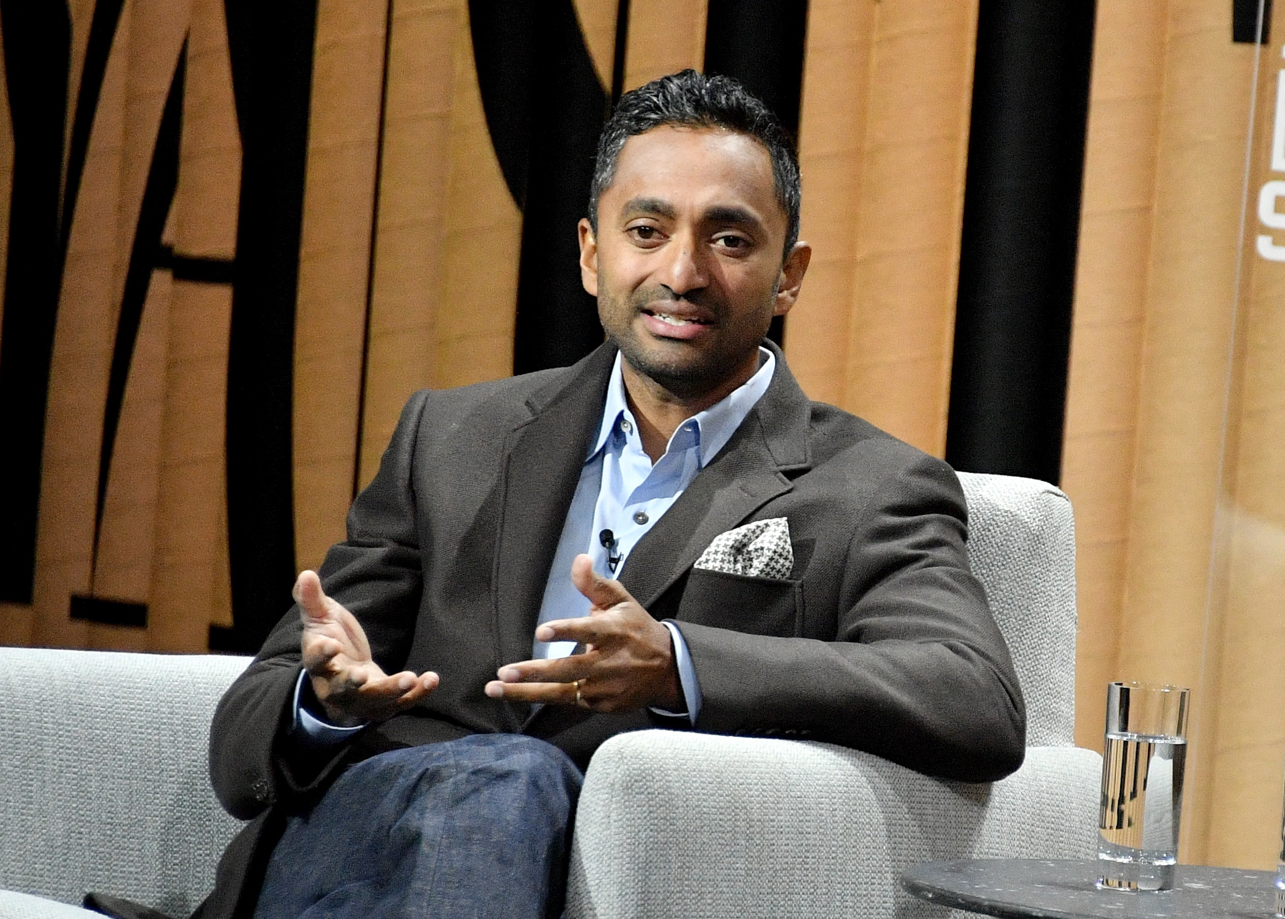 """Founder/CEO of Social Capital, Chamath Palihapitiya, speaks onstage during """"The State of the Valley: Where's the Juice?"""" at t"""