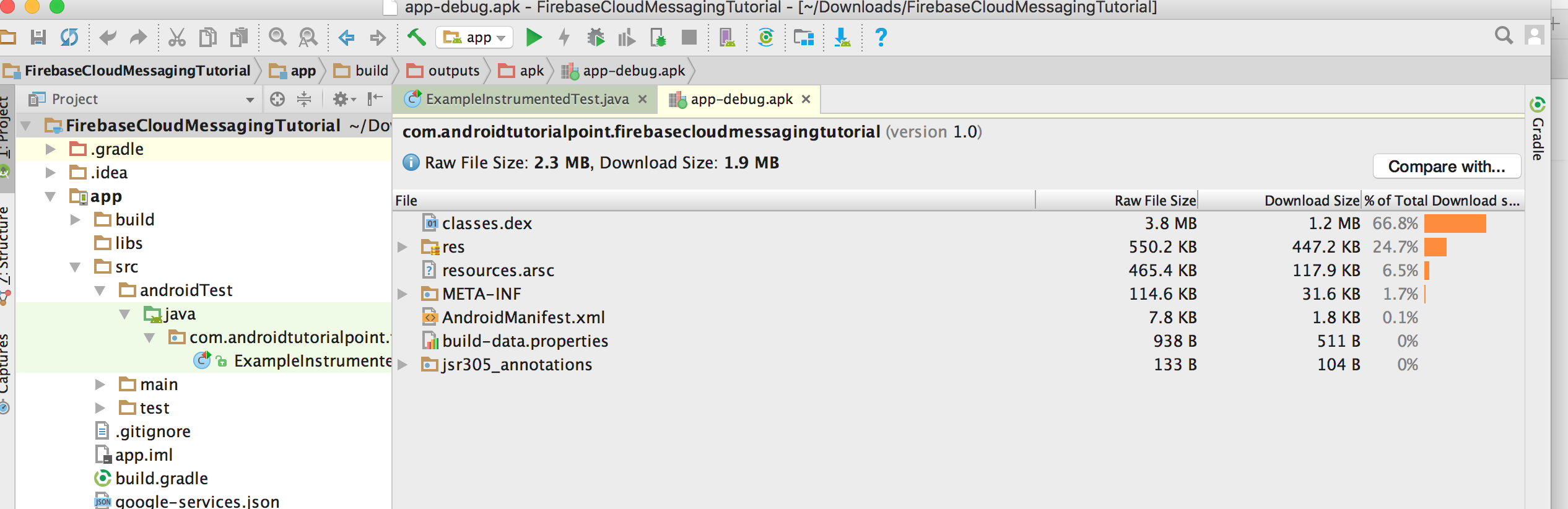 Penetrating into APK file after completion of build process