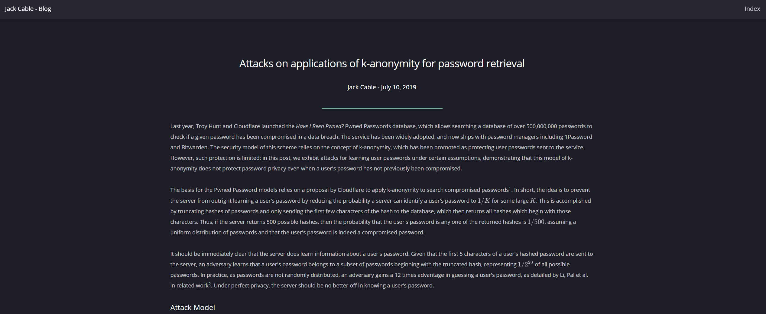 Attacks on Applications of K-Anonymity — For the Rest of Us