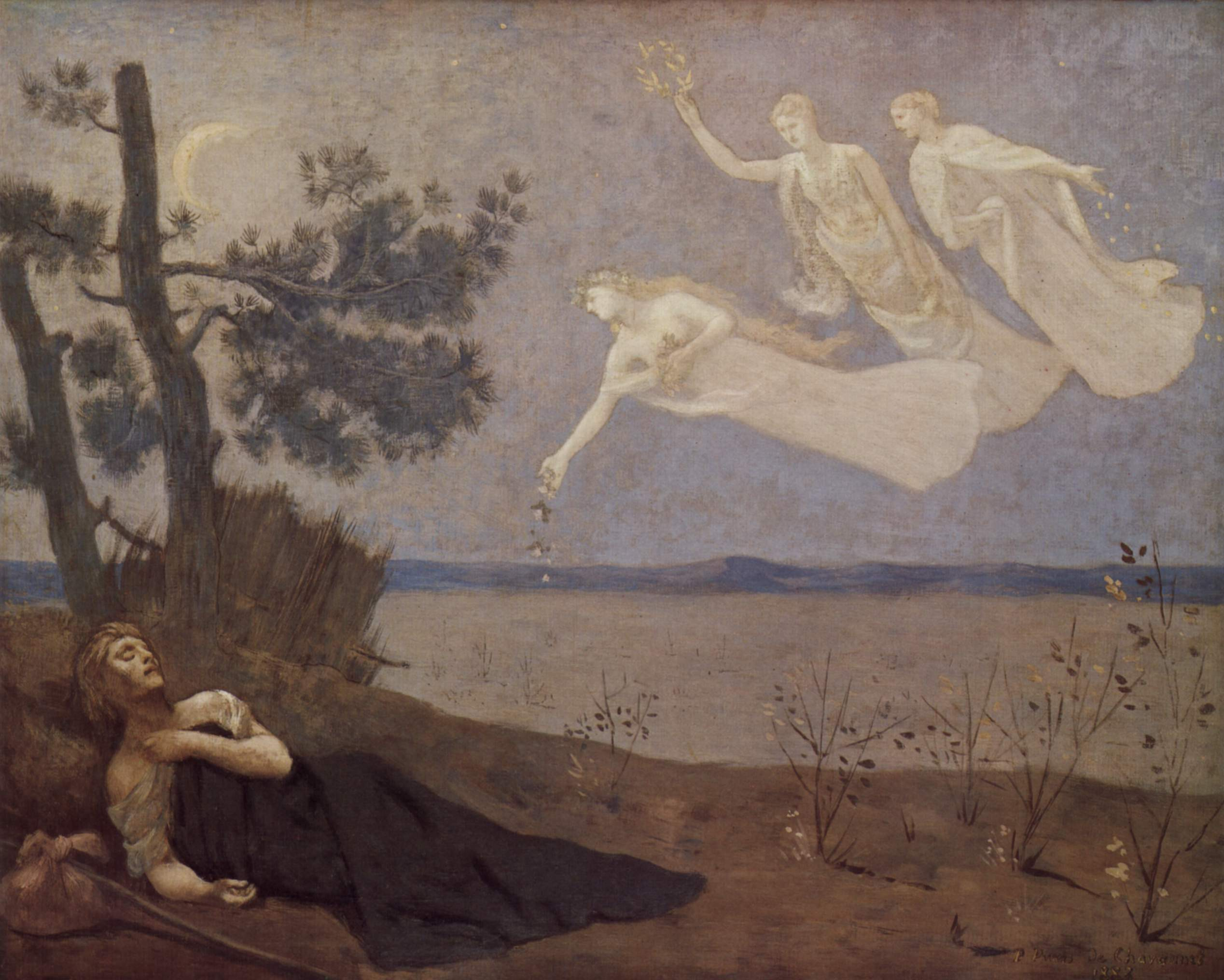 Puvis de Chavannes painting, The Dream