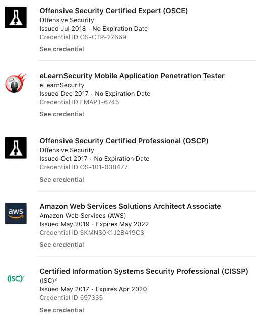 Tips on how to pass these certifications (CISSP, OSCE, etc)