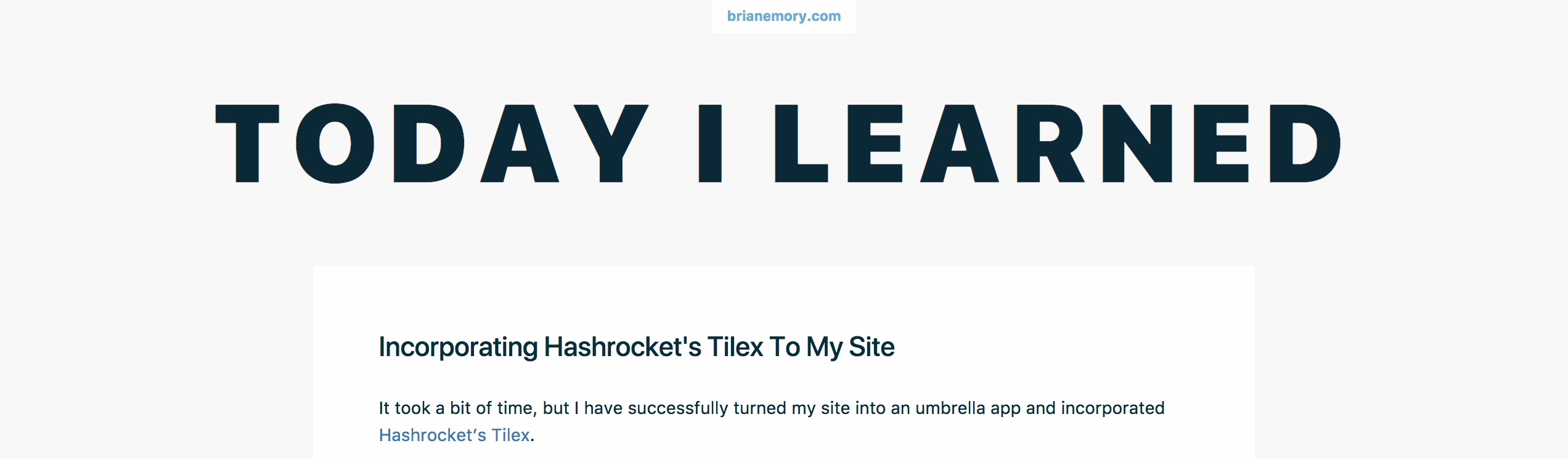 Phoenix: Creating An Umbrella App With Your Site And