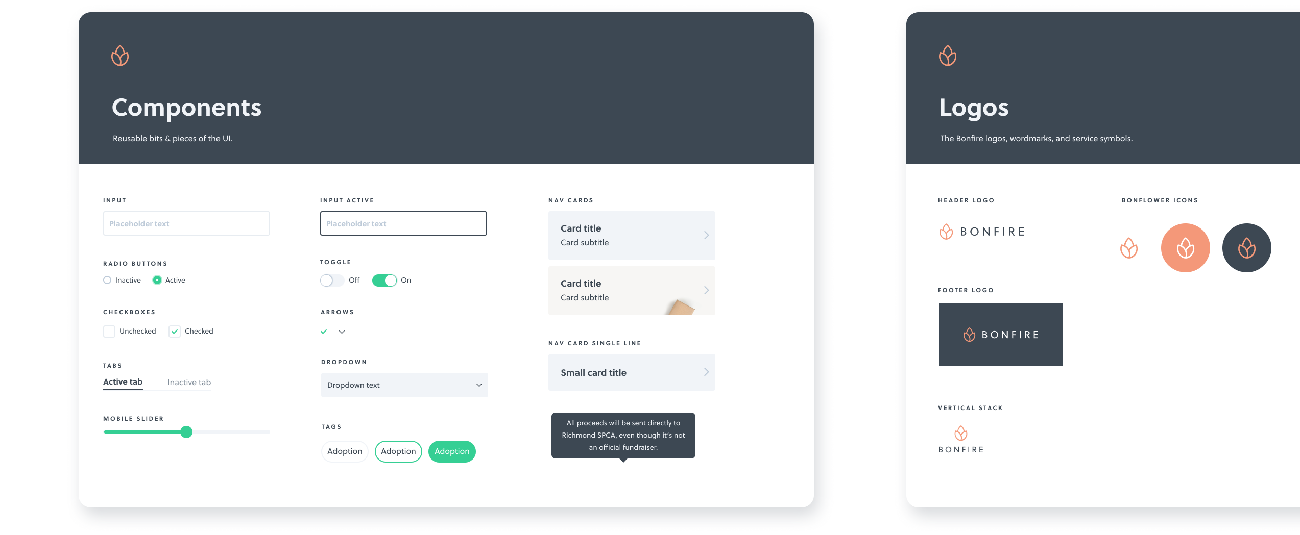 A screenshot of a digital product design component library