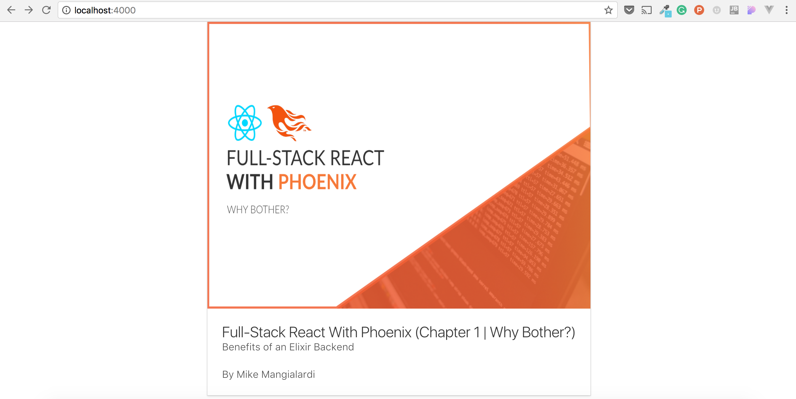 Full-Stack React With Phoenix (Chapter 6 | Creating a