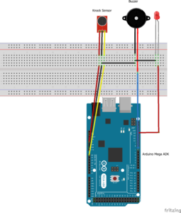 Sound Sensor with Arduino board, LED including Buzzer