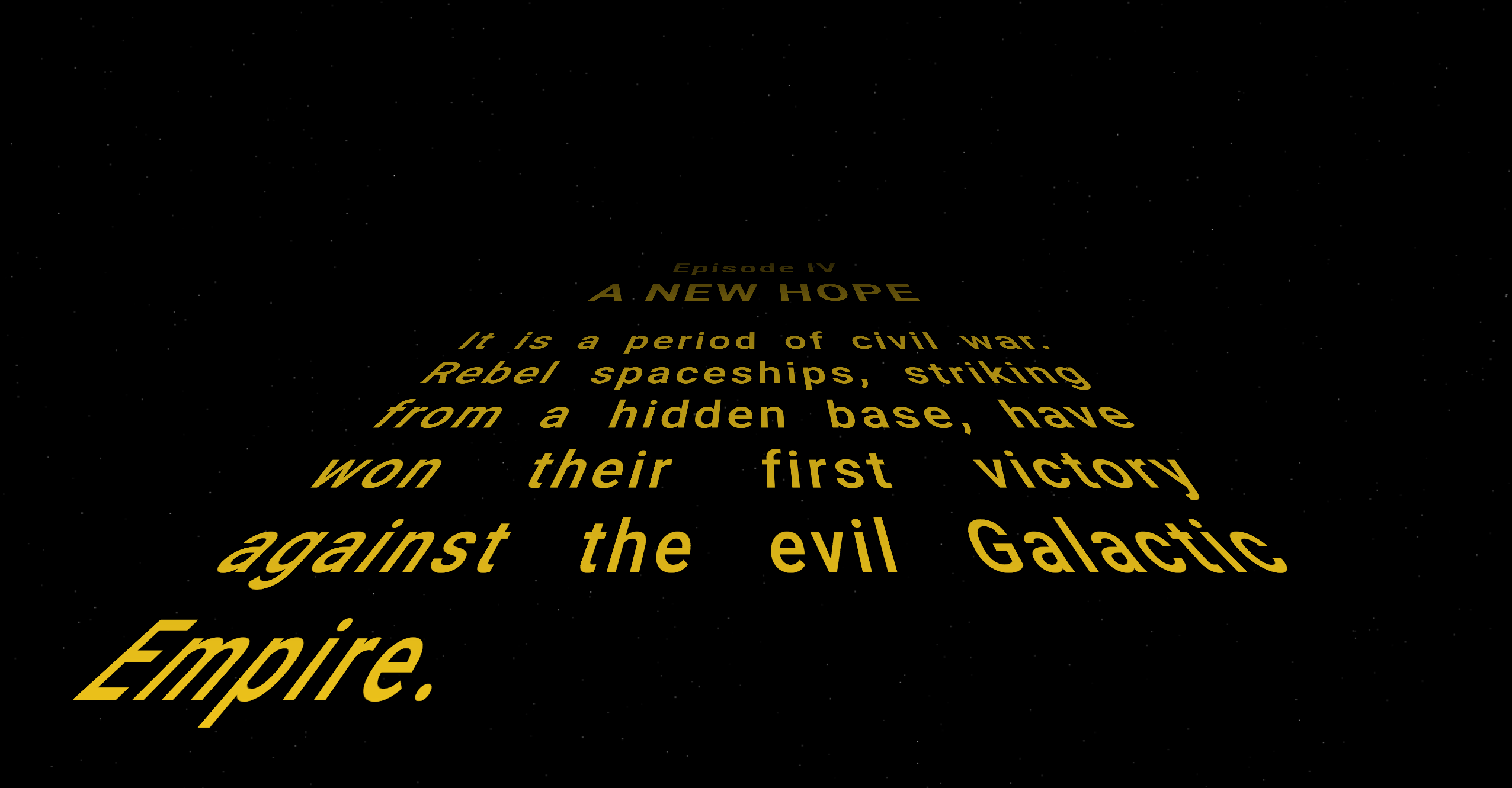 Create A Star Wars Title Crawl In Html By Slawomir Chodnicki Better Programming Medium