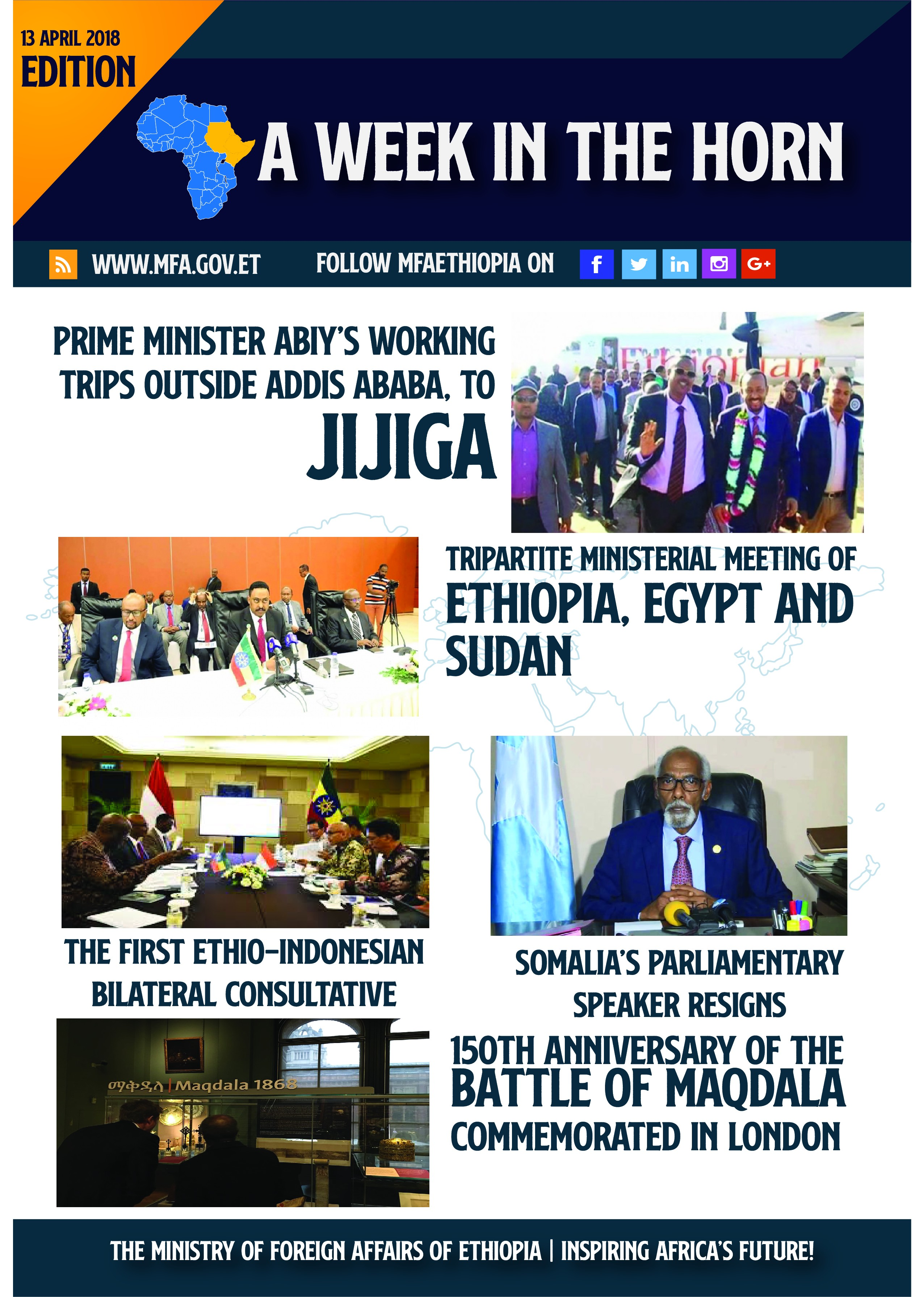 A Week In The Horn 13 04 2018 Prime Minister Abiy S Working Trips By The Ministry Of Foreign Affairs Of Ethiopia Medium