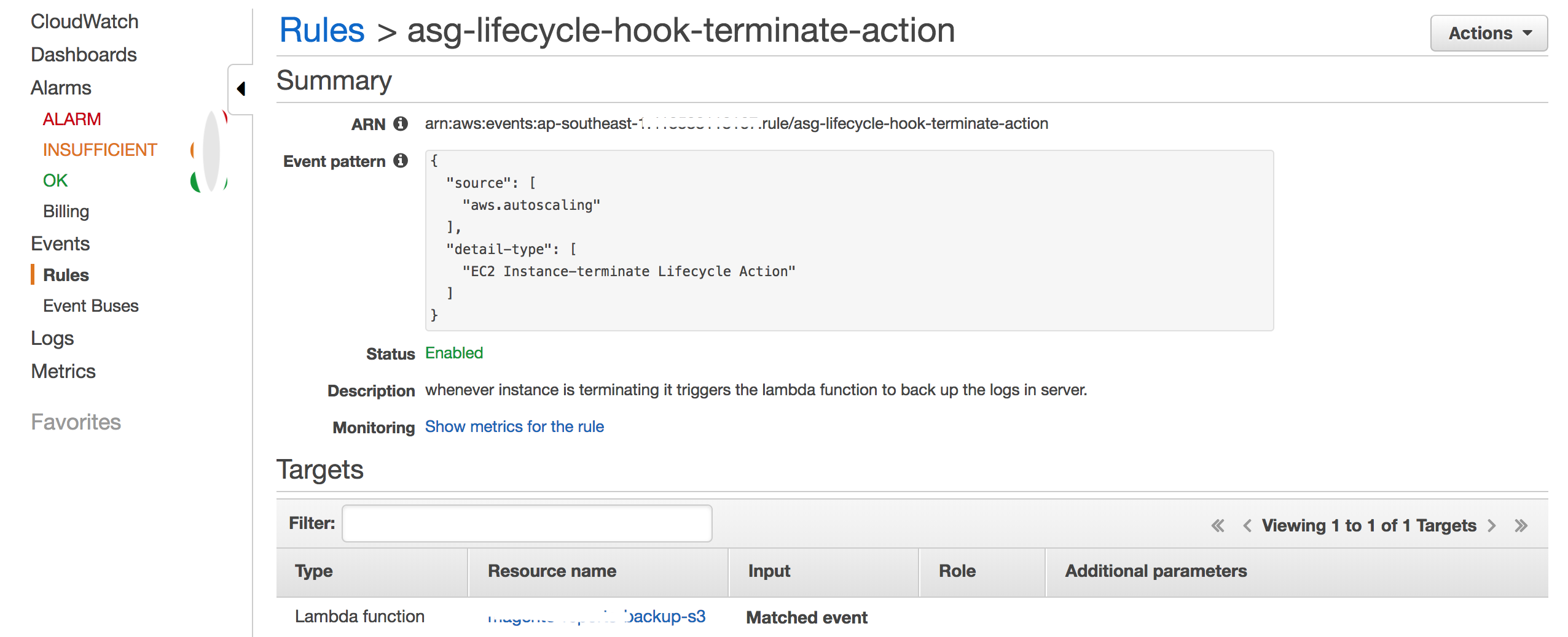 Amazon EC2 Auto Scaling lifecycle hooks to Export Instance