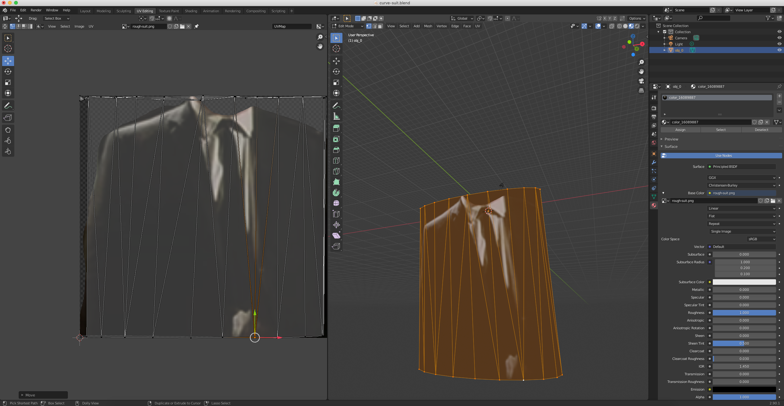 Image of Blender 3D modelling interface