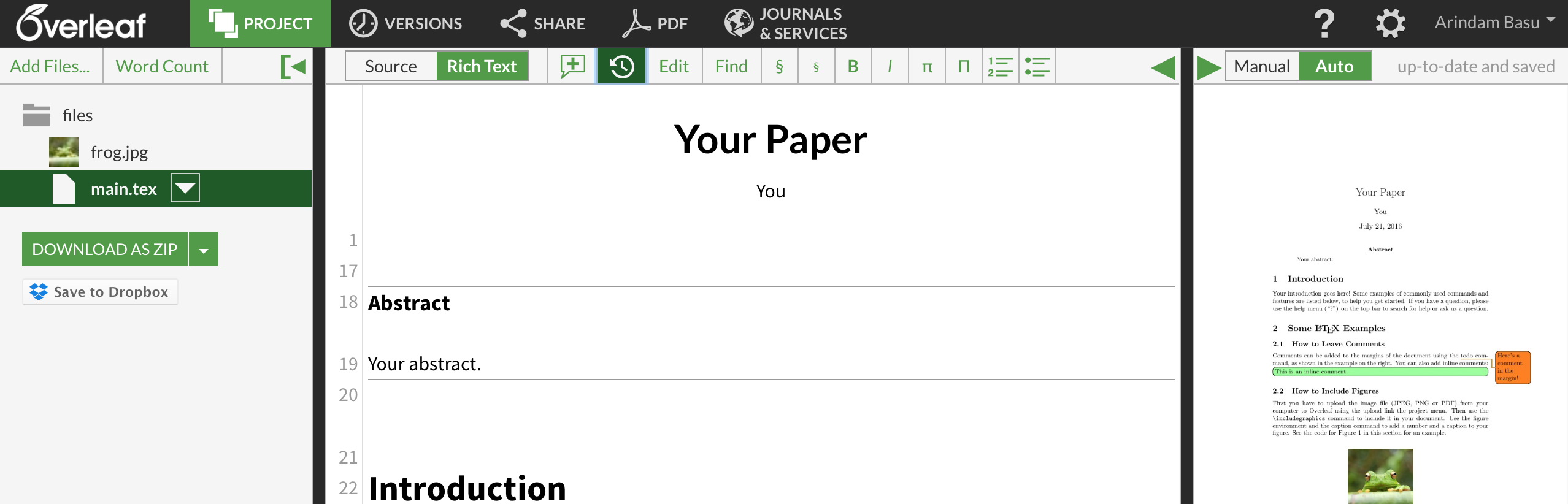 How to use Overleaf to Write your papers: Part I: Basic