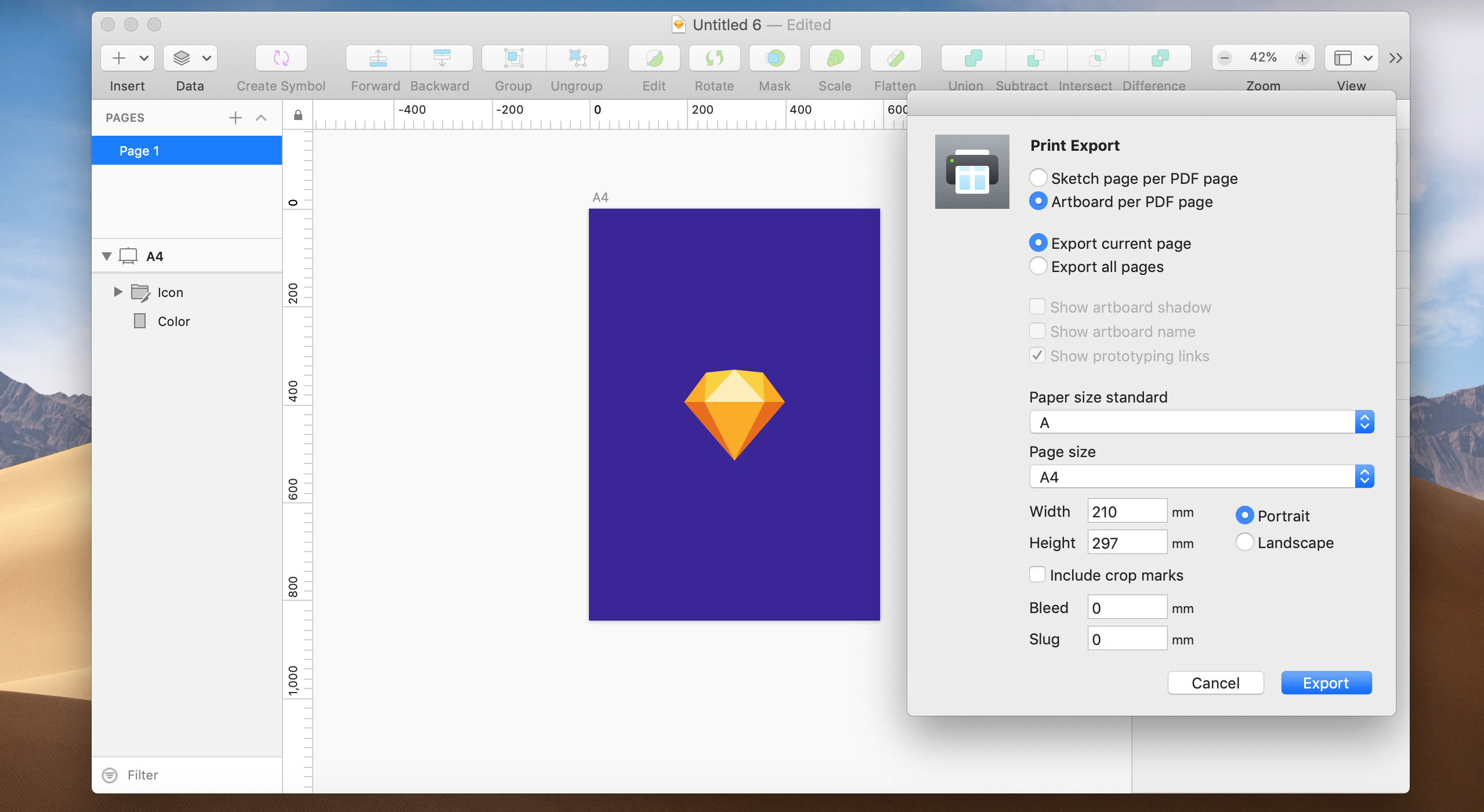 Export Artboards and pages for print with this official