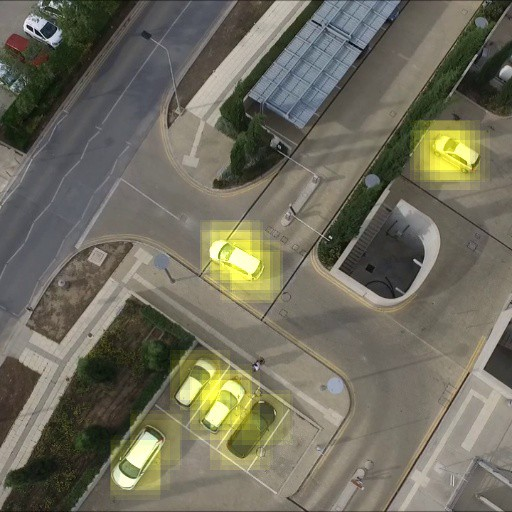 Training a deep-learning classifier for aerial top view