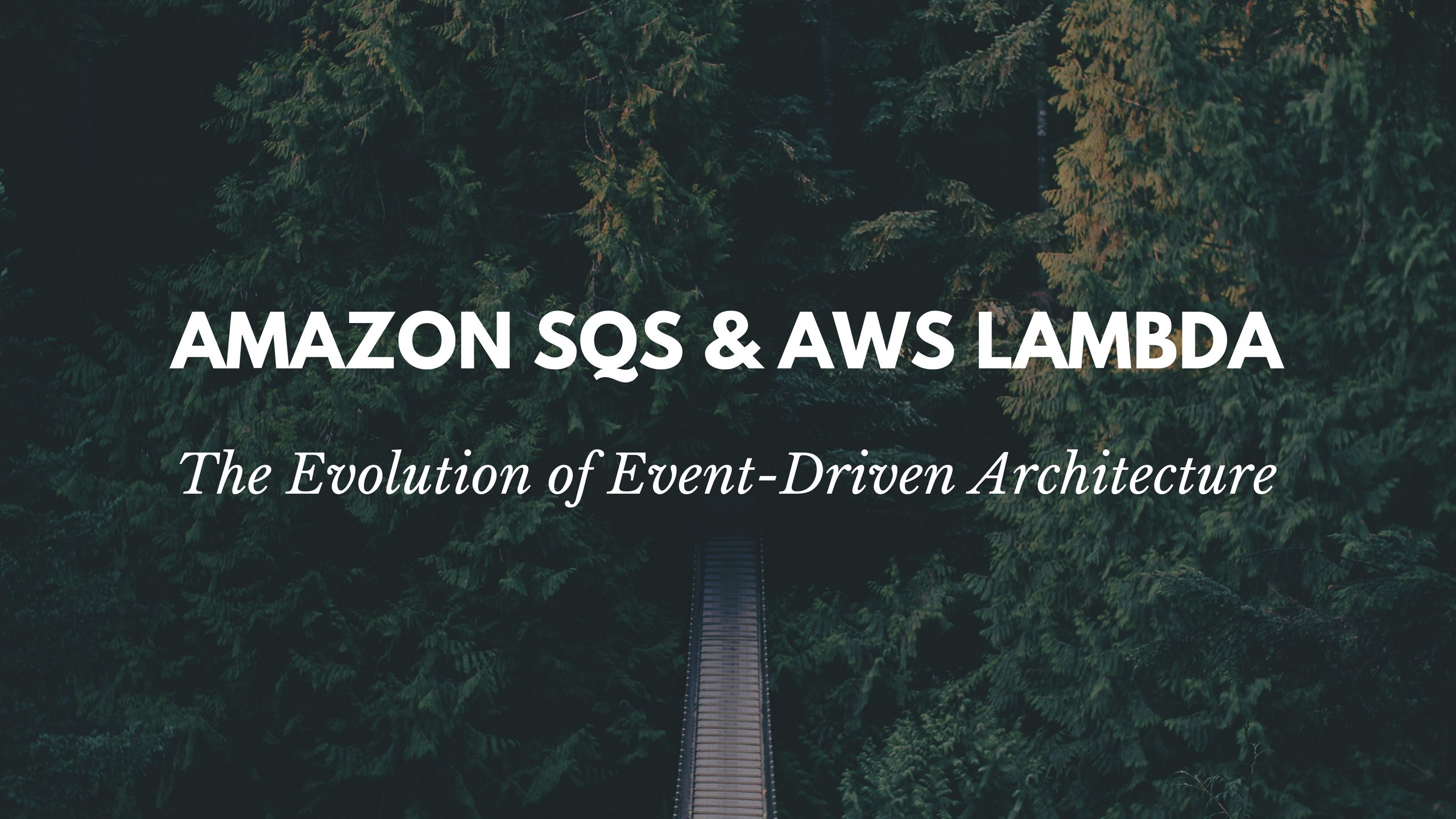 Event-driven architecture with Amazon SQS and AWS Lambda