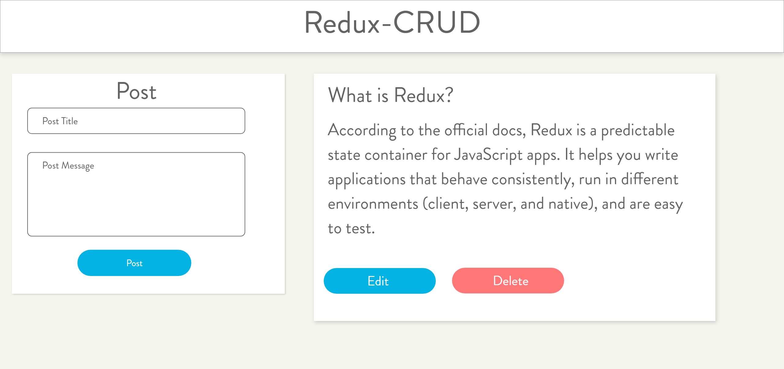 Redux-A CRUD Example - codeburst