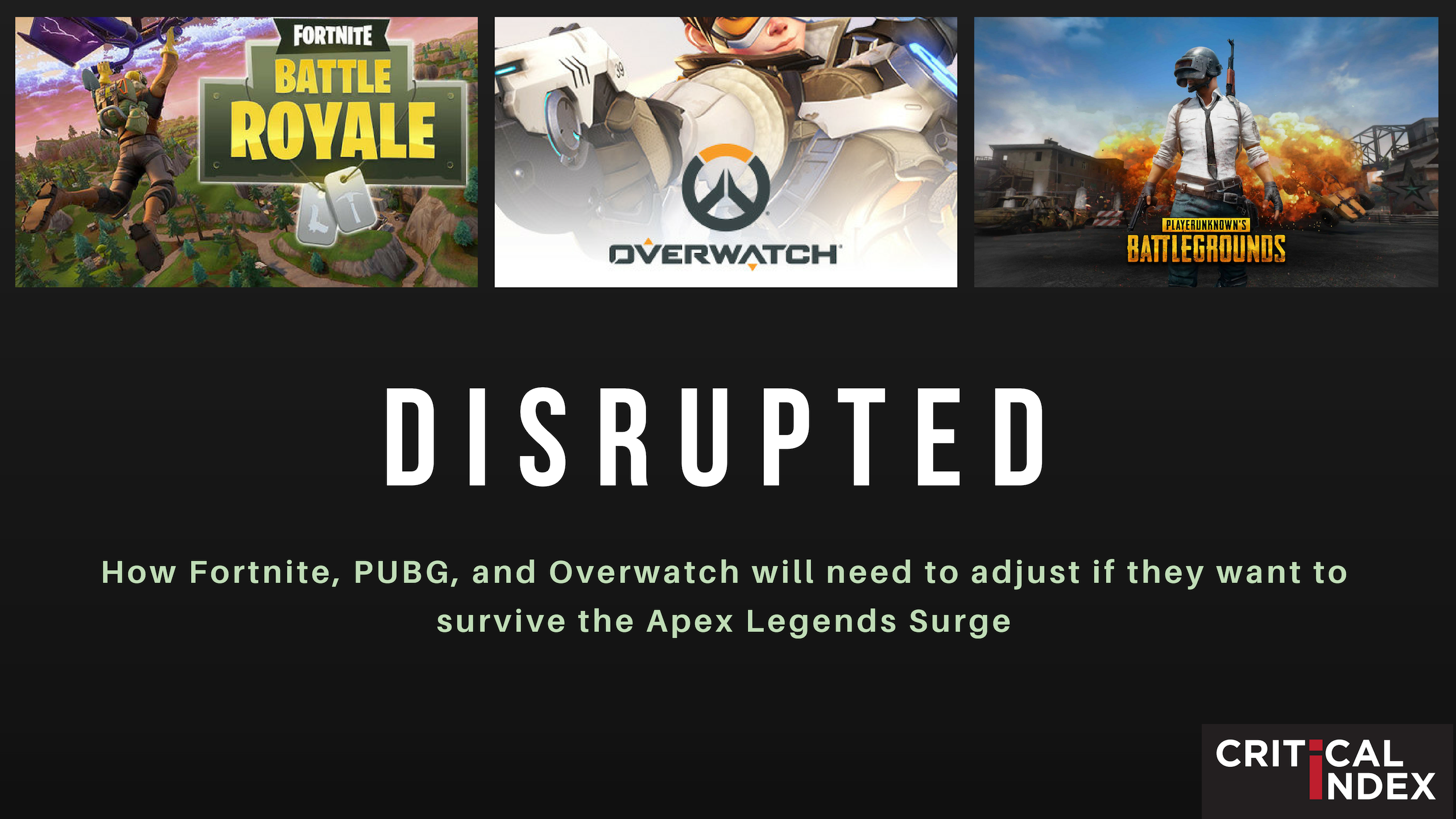 DISRUPTED: How Overwatch, Fortnite, and PUBG will need to