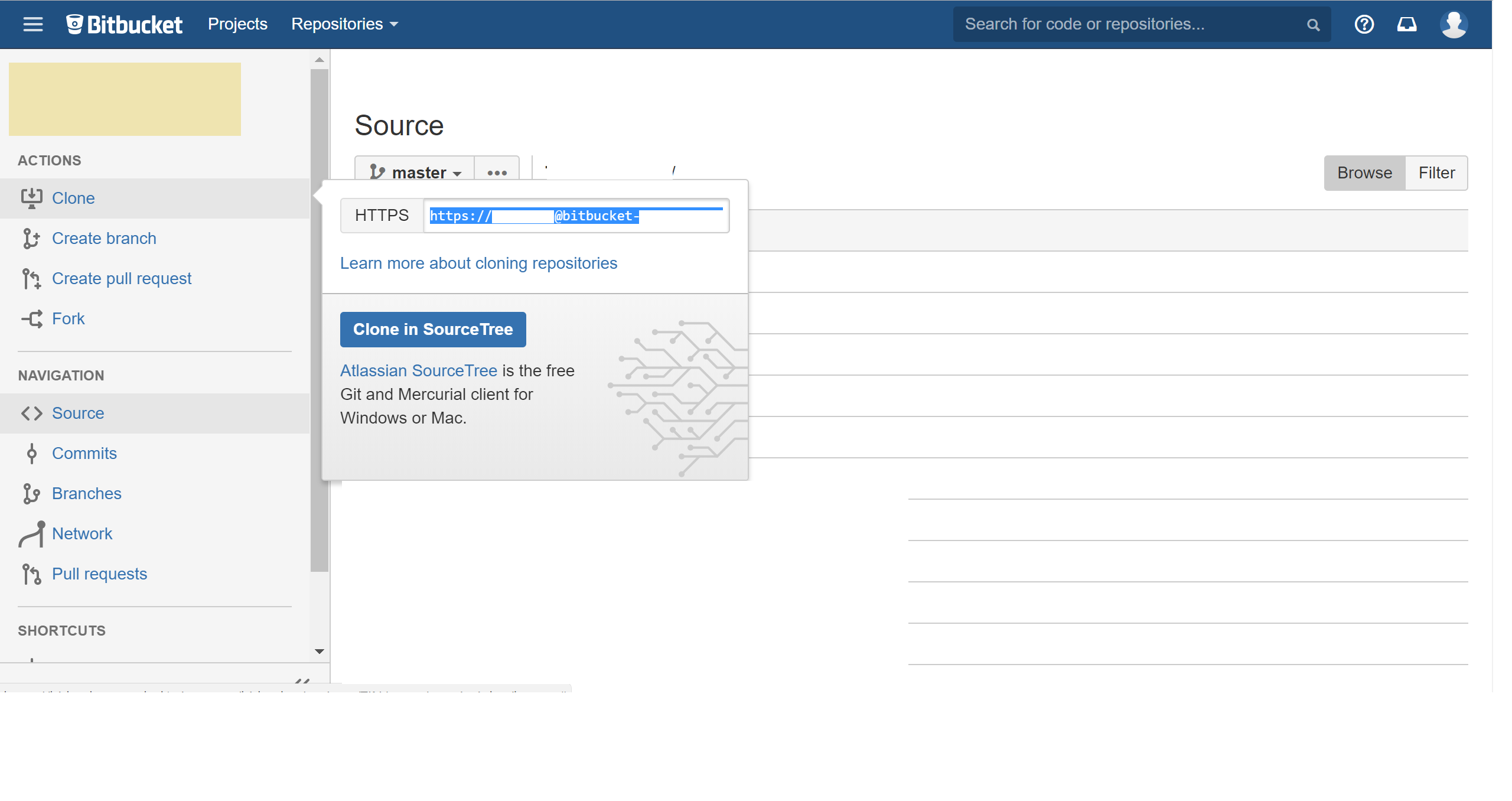 How to use Bitbucket repository in the Github Desktop