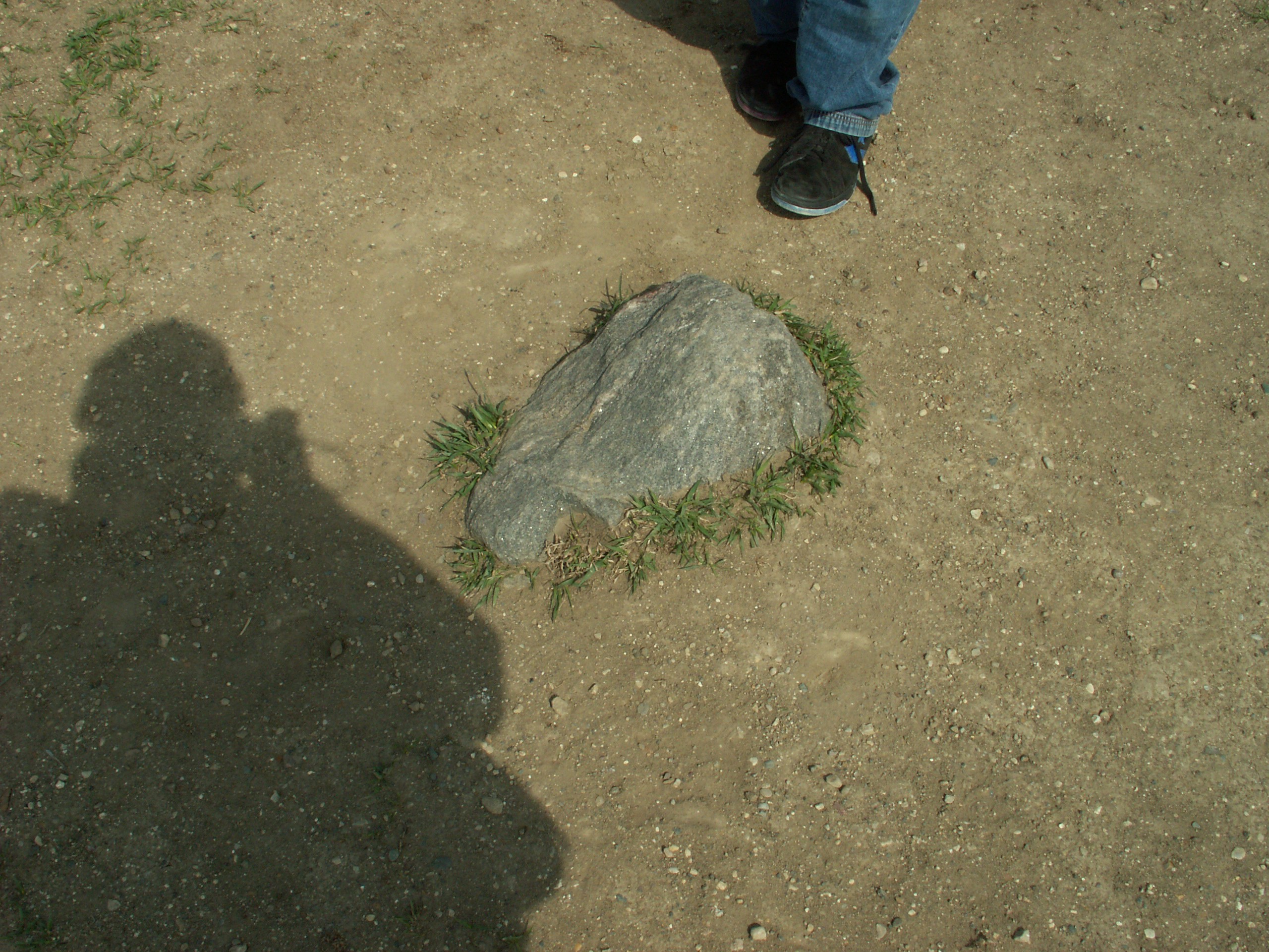 The rock at the top pf Spirit Mound