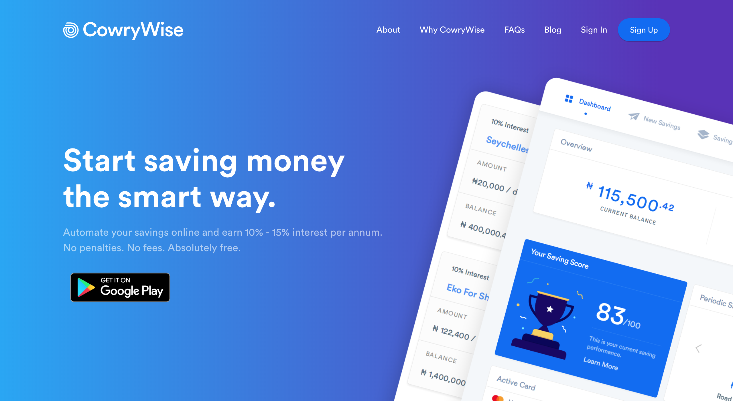 Save and Invest Securely with Cowrywise | by Yele Bademosi | opentraction