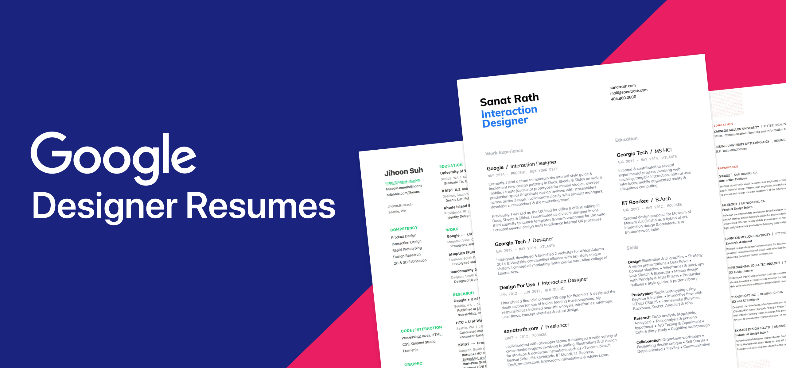 10 Amazing Designer Resumes That Passed Google S Bar By