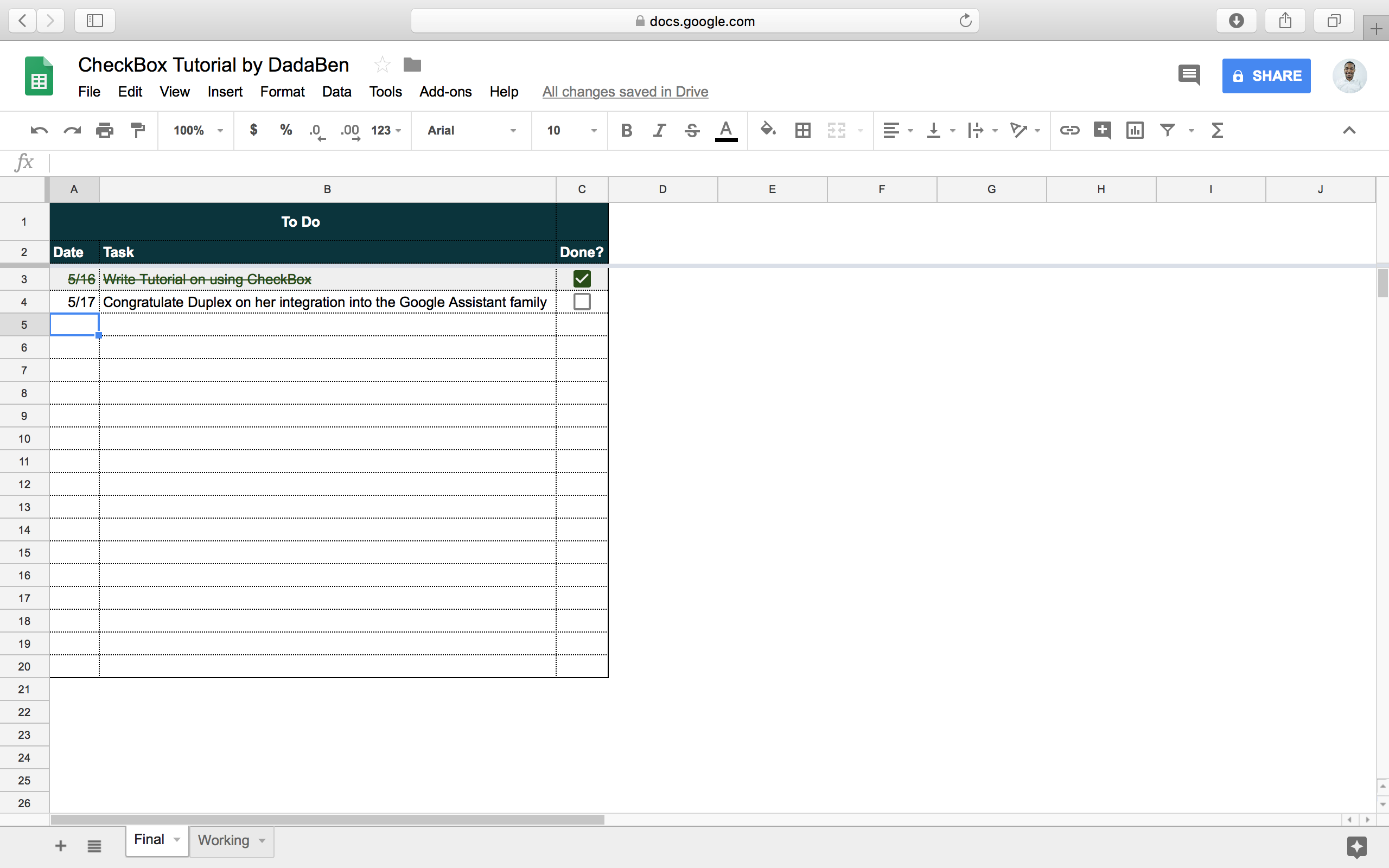 Tutorial How To Build Your Own Beautiful Todo List Sheet