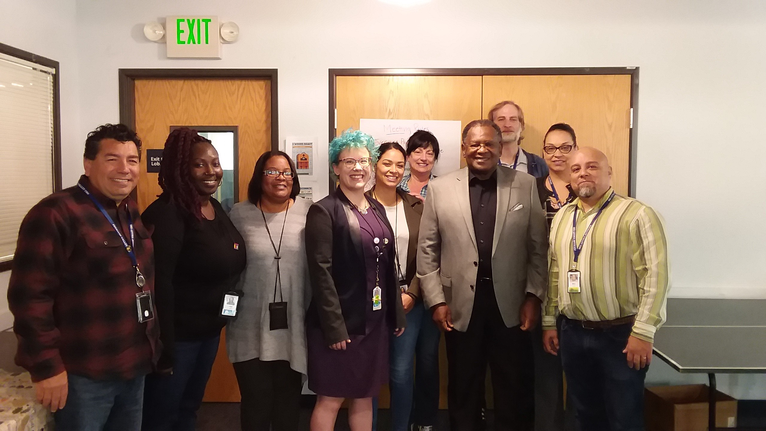 Puyallup Valley CSO staff with Lyle Quasim, former DSHS secretary and leader of Tacoma's Black Collective.