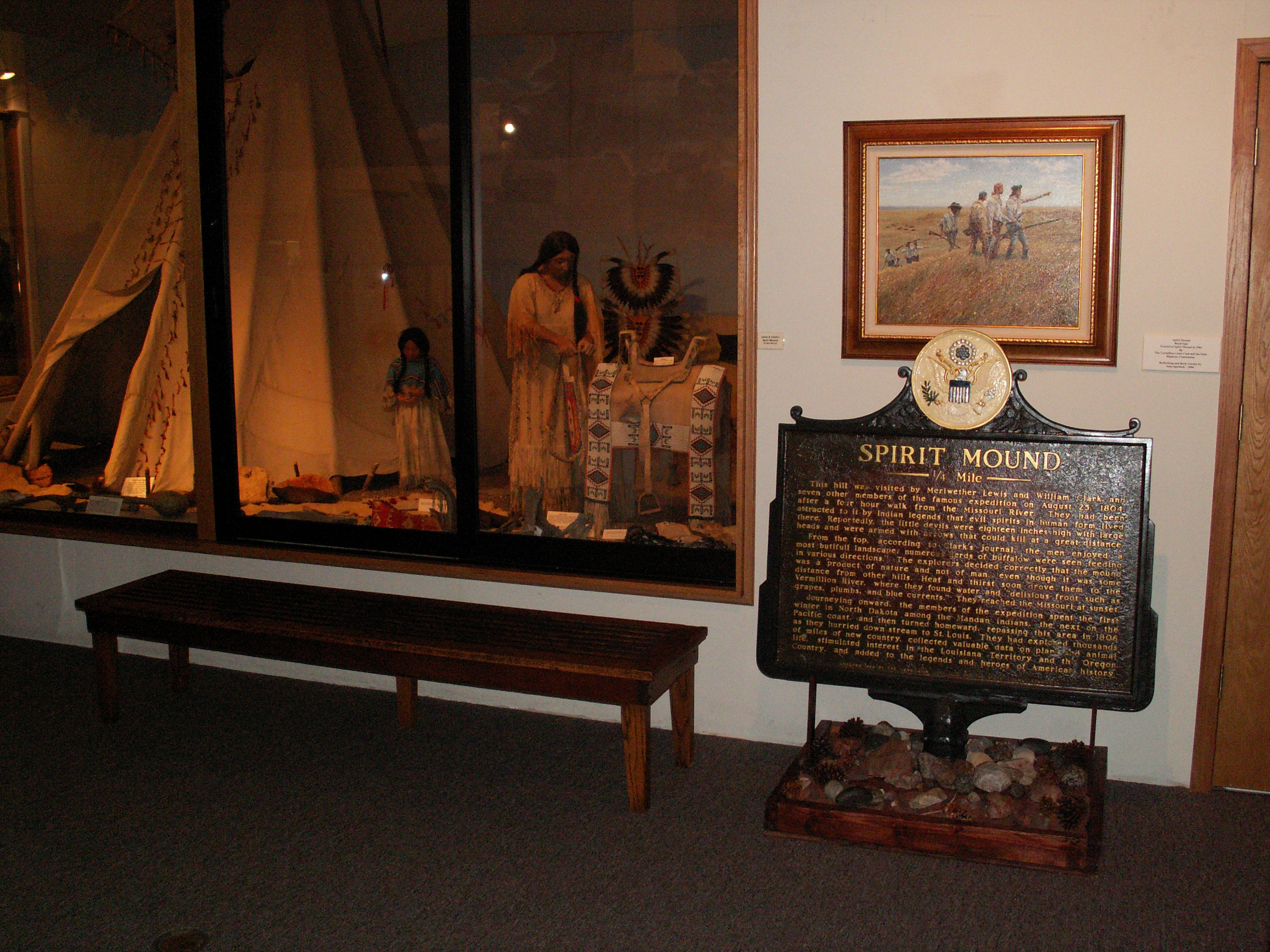 An exhibit in the W.H.Over Museum