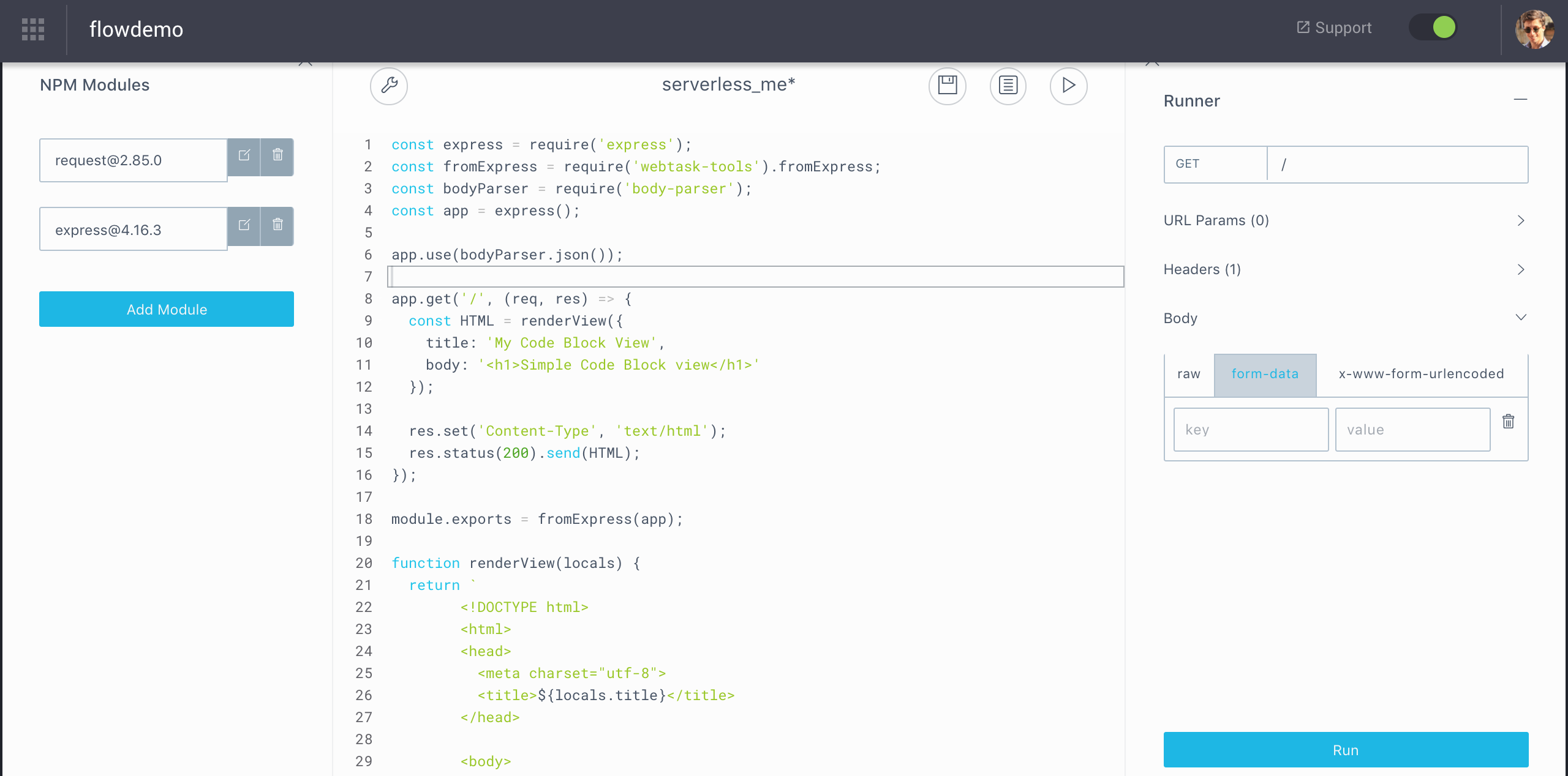 Introducing the new Code Blocks: Node 8, better authoring