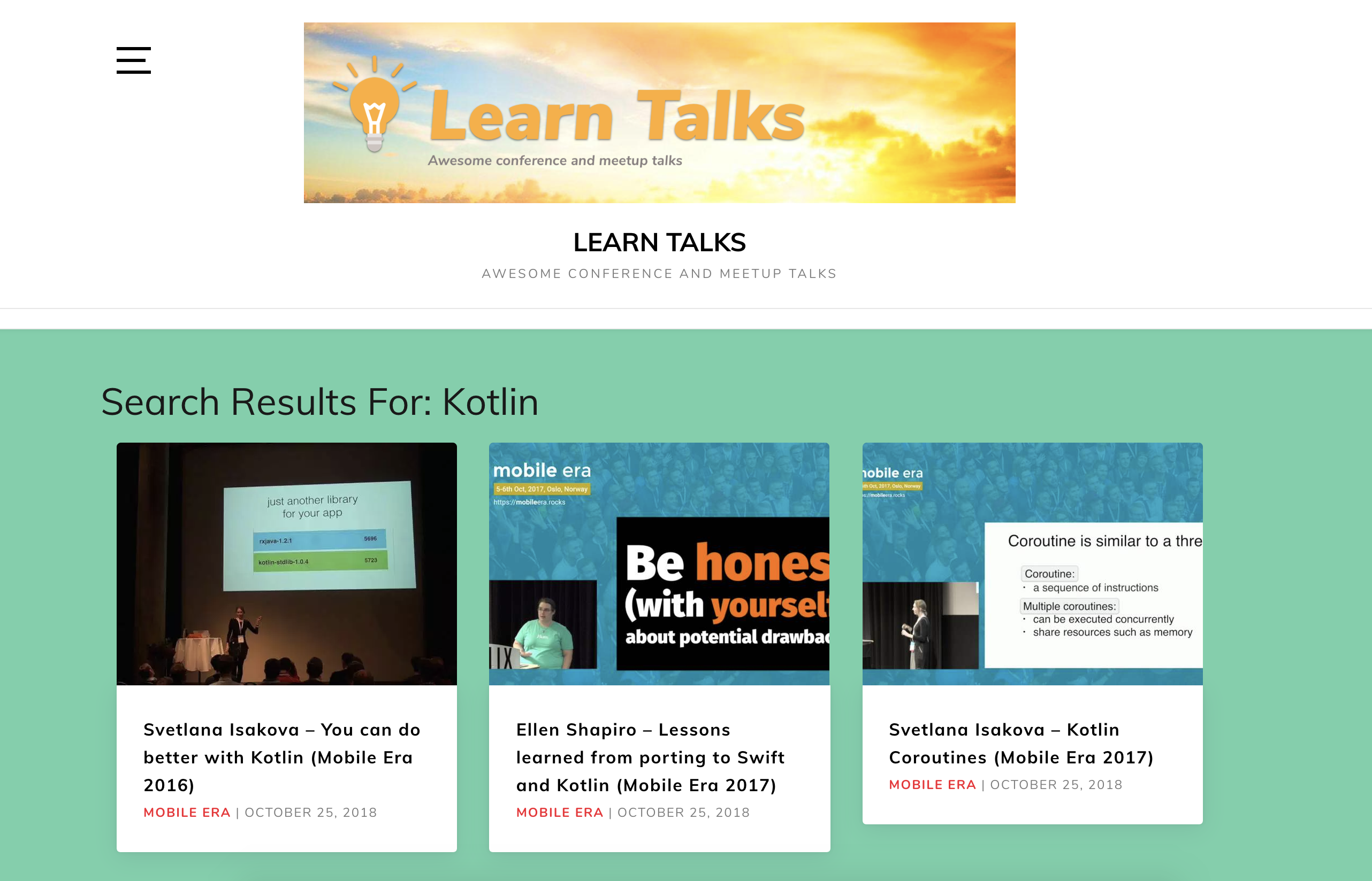 Introducing Learn Talks — Awesome conference and meetup talks