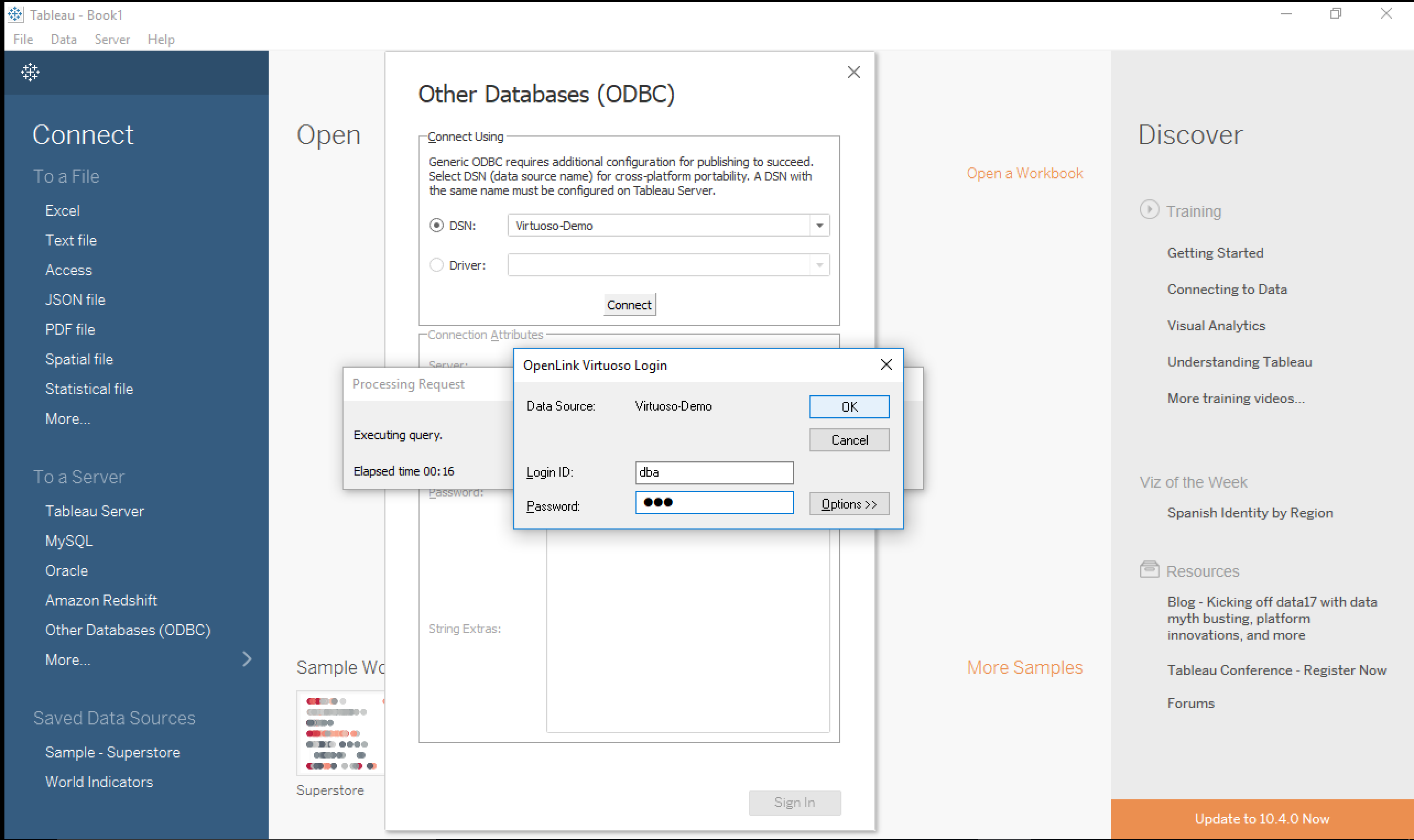 Visualizing SPARQL Results in Tableau - OpenLink Virtuoso
