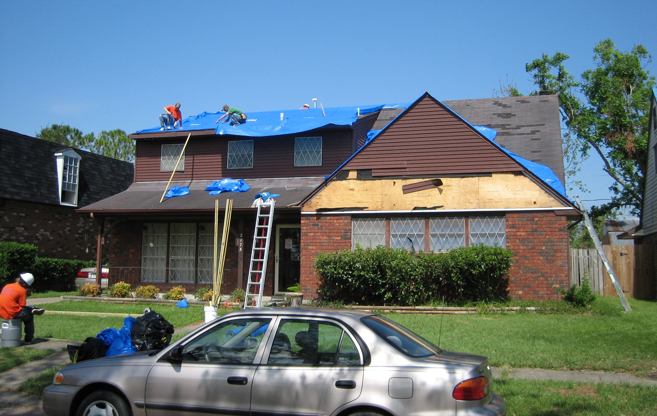 Emergency Roof Tarp Installation Services Cost By Restoration Pro Selection Medium