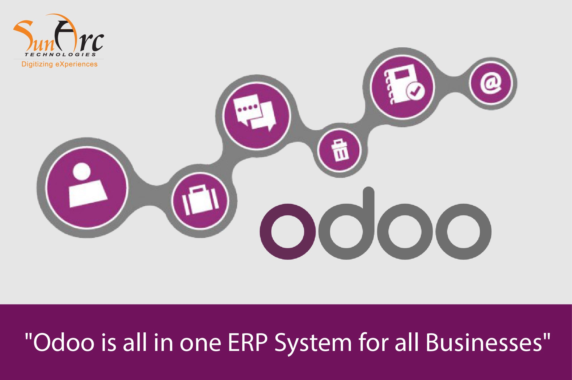 Odoo is All in One ERP System for Businesses - SunArc Tech
