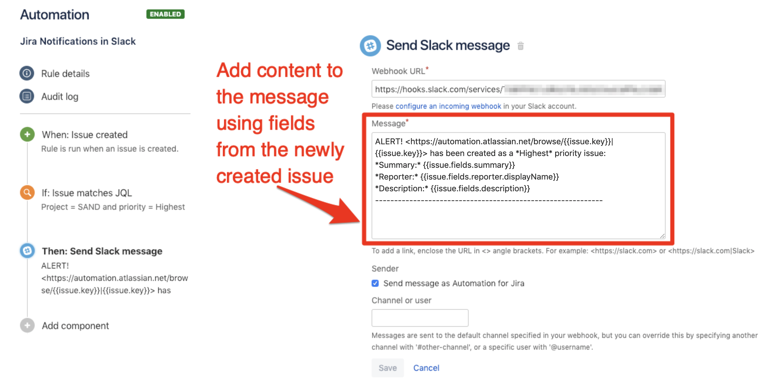 How to use Slack Messages with Automation for Jira