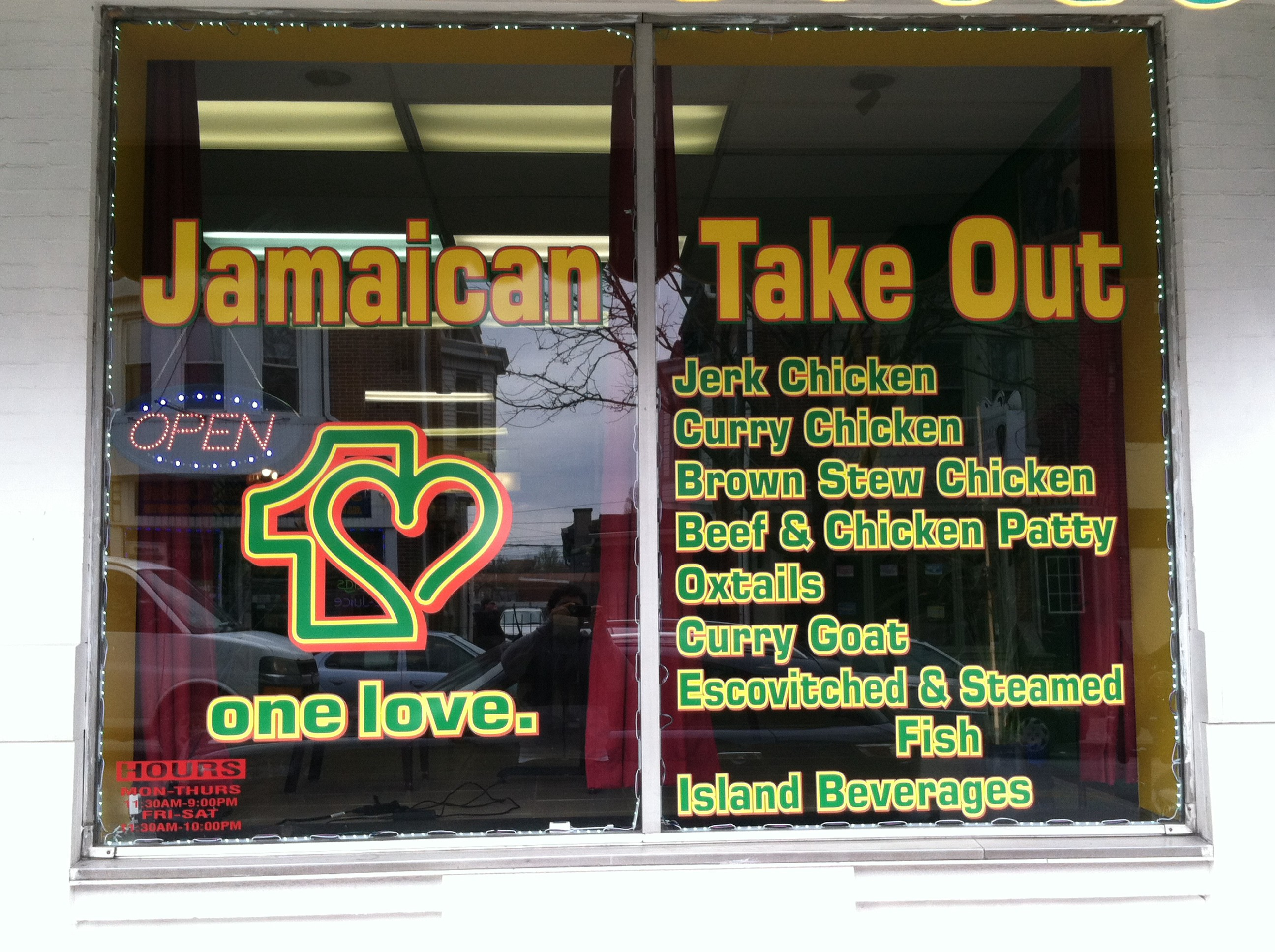 One Love Jamaican Take Out Uber Eats Opens It S Doors In