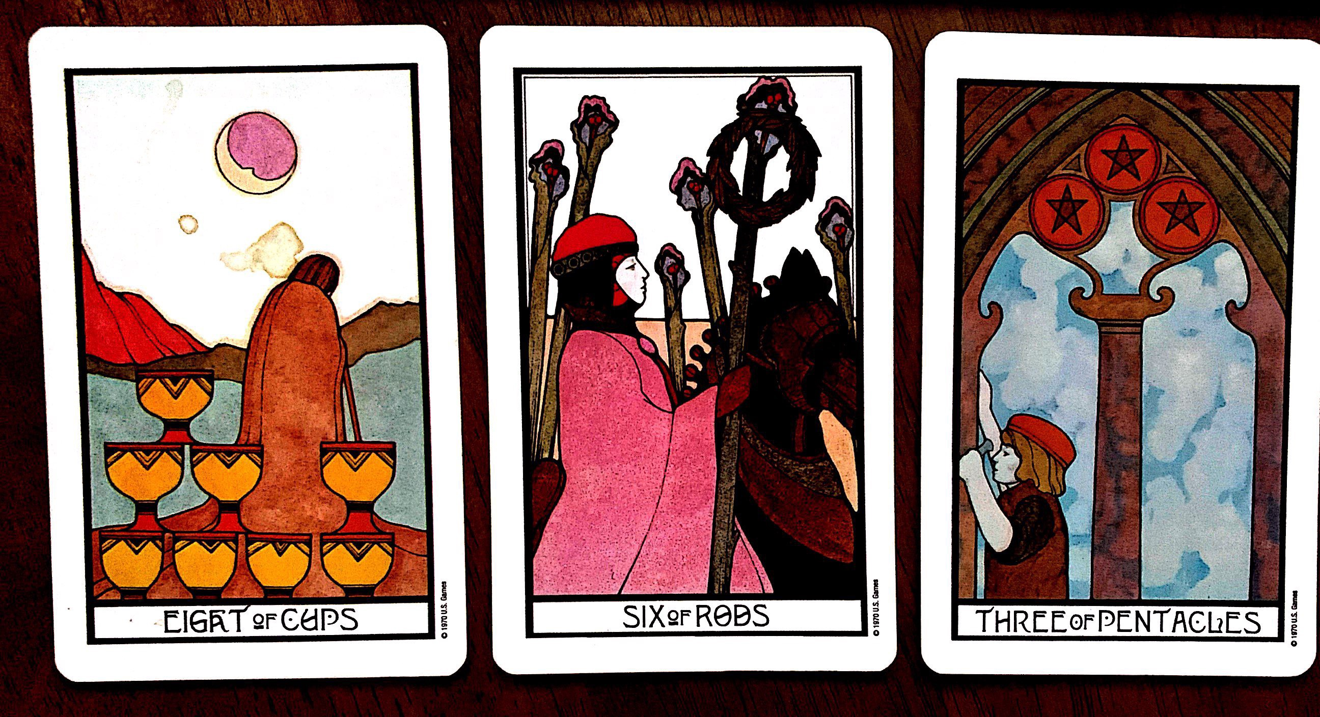 Tarot Combinations Eight Of Cups And Three Of Pentacles By Heather Cristia Medium A man juggles two pentacles. tarot combinations eight of cups and