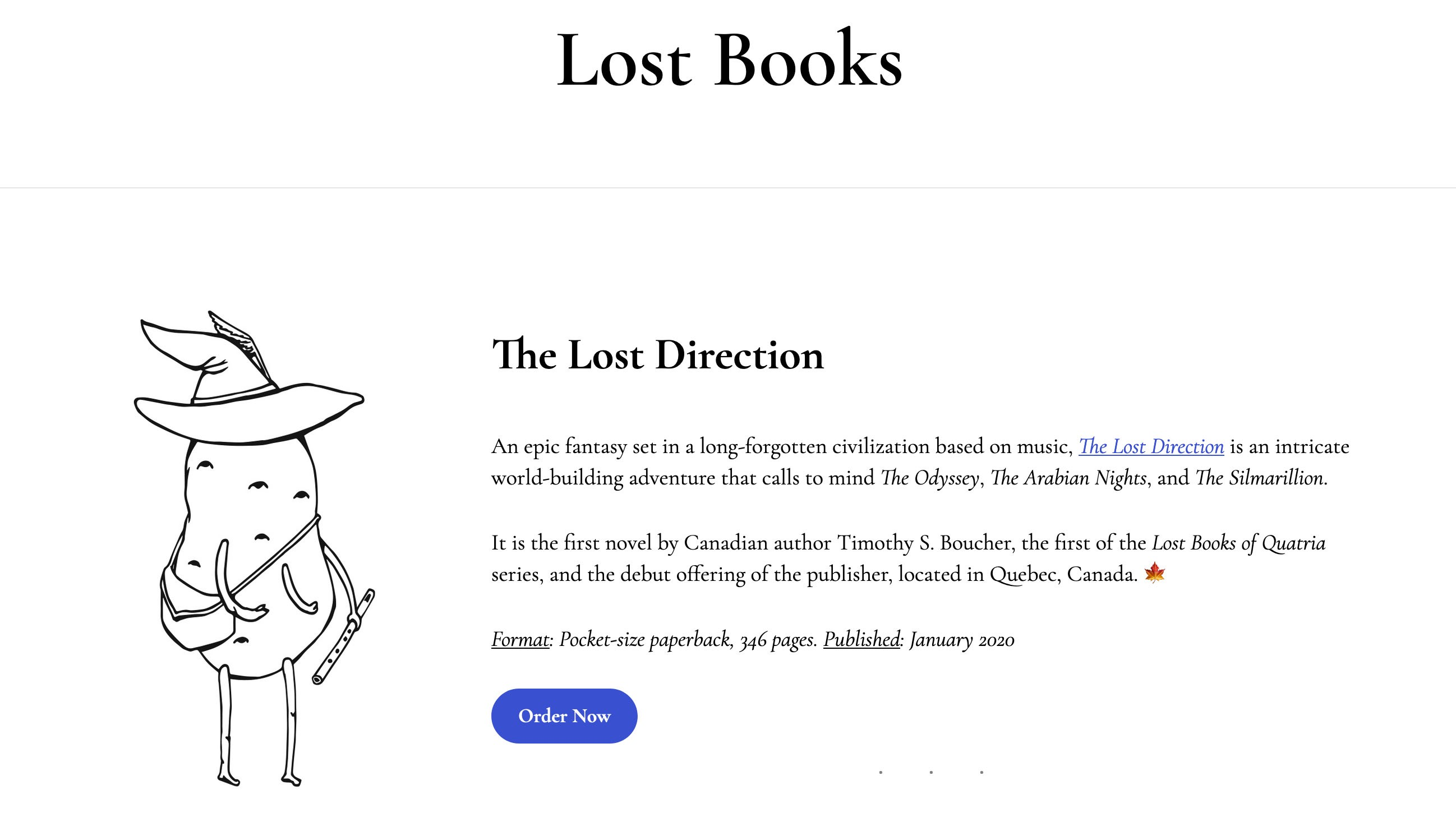 """""""The Lost Direction"""" Published by Lost Books of Quebec, Canada"""