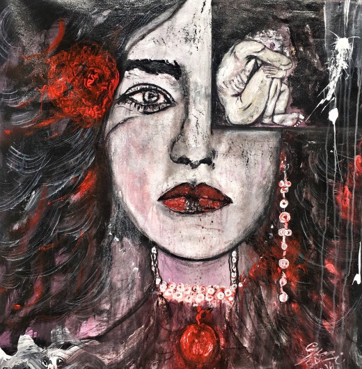 Some of the Best Contemporary Artists in Dubai - Alya Khemji