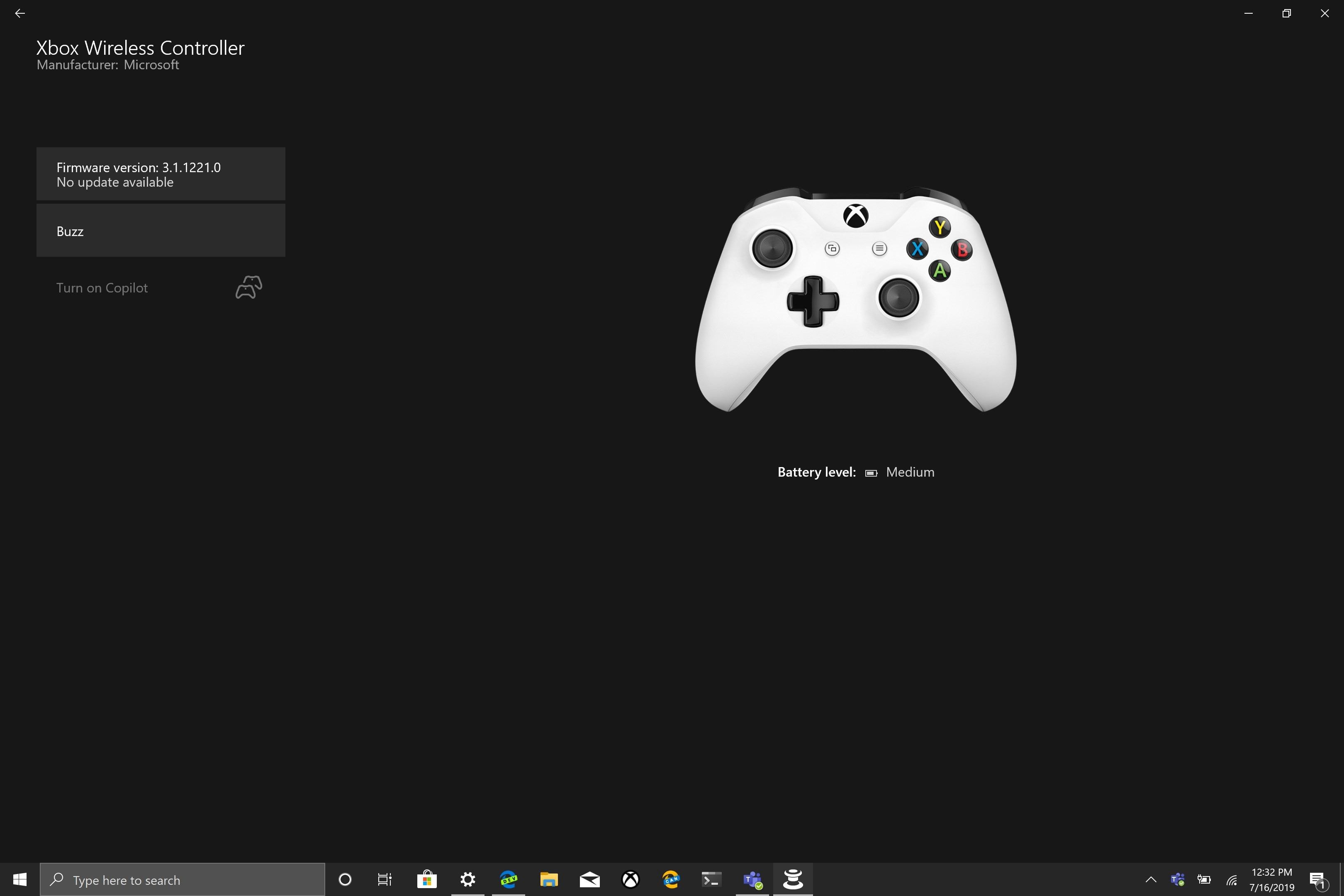 How To Check The Battery Level Of Your Xbox One Controller On Windows 10 By Dave W Shanahan Medium