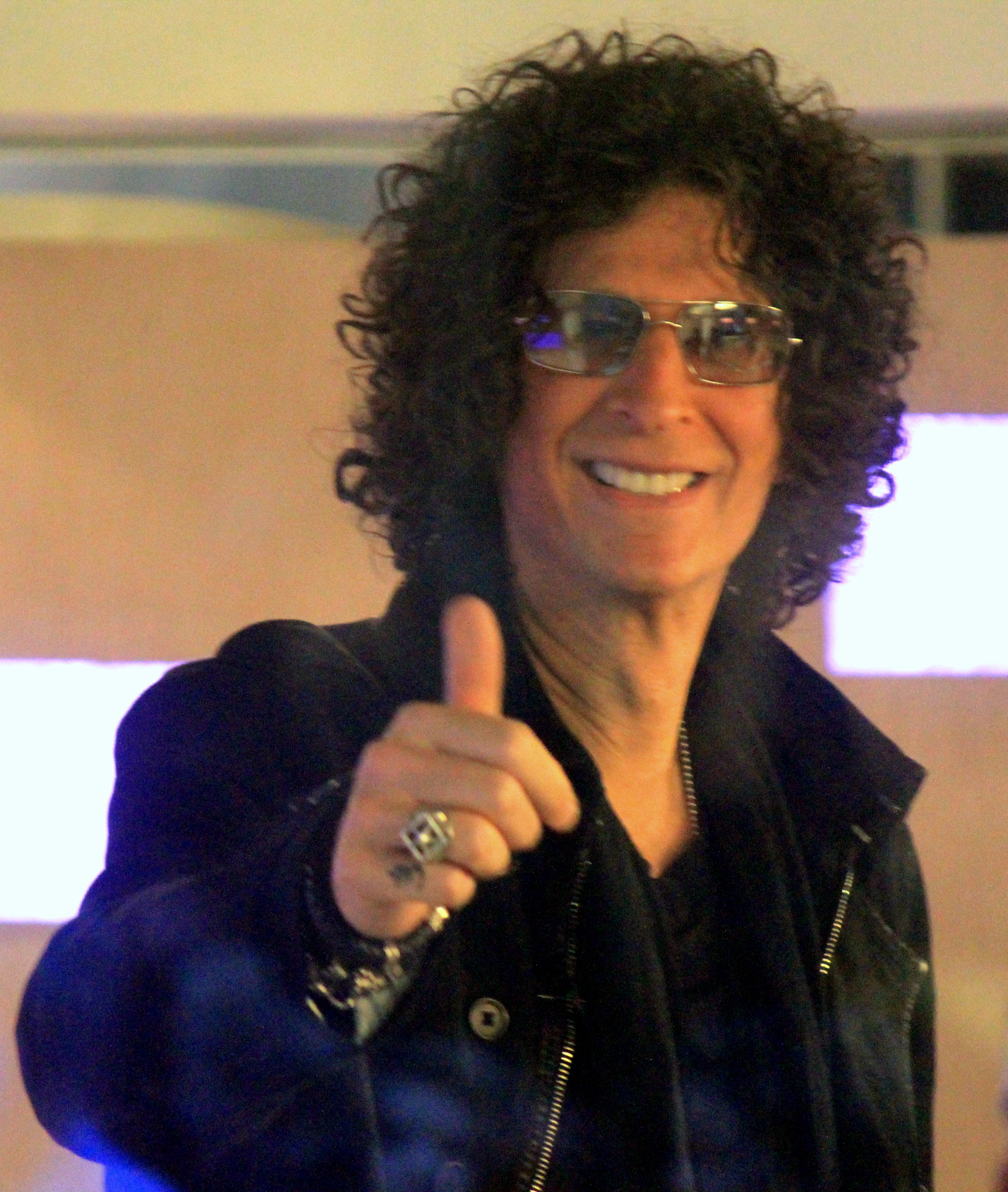 Howard Stern gives a thumbs up
