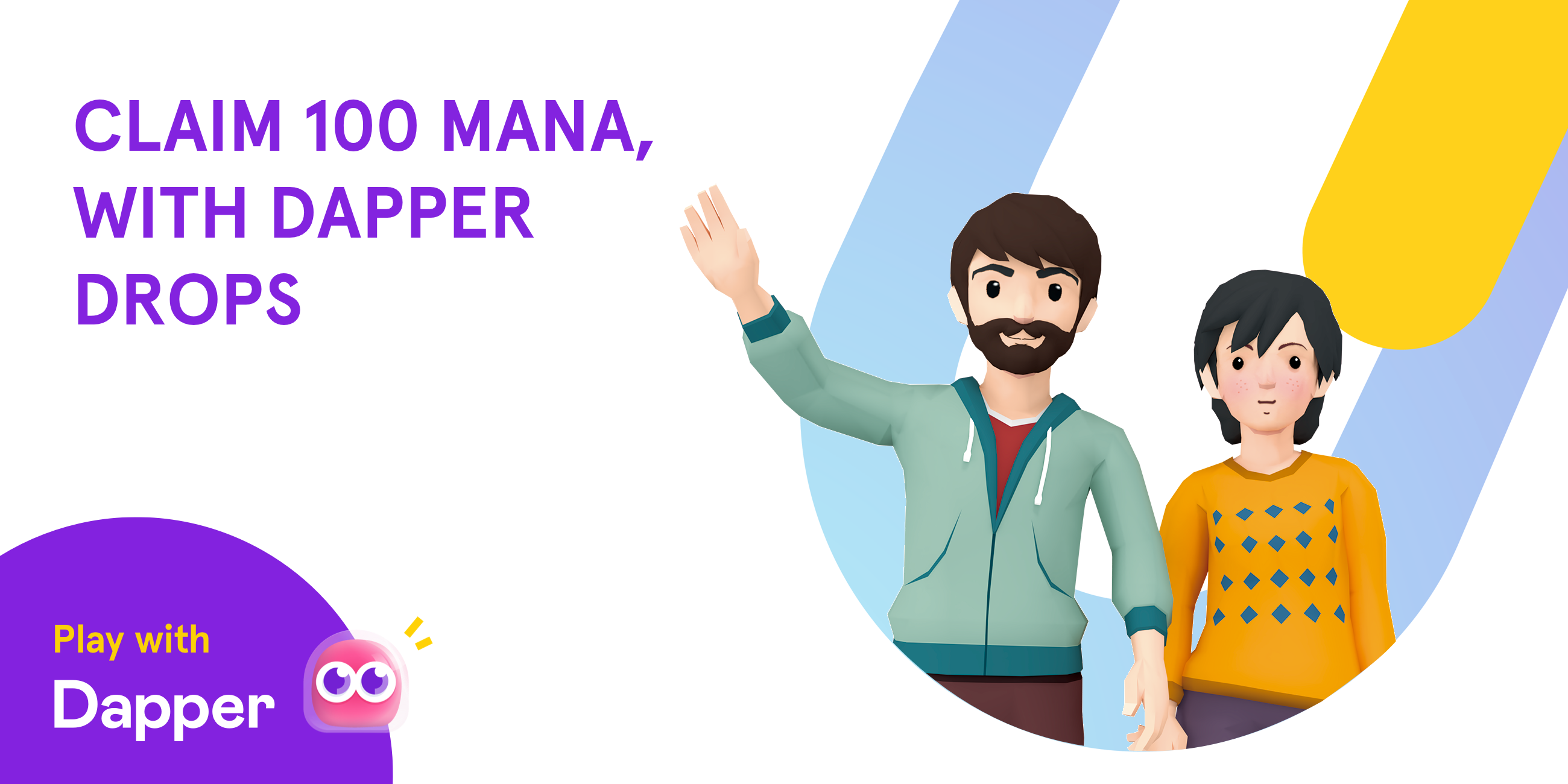 Enjoy 100 free MANA to create your avatar and username in