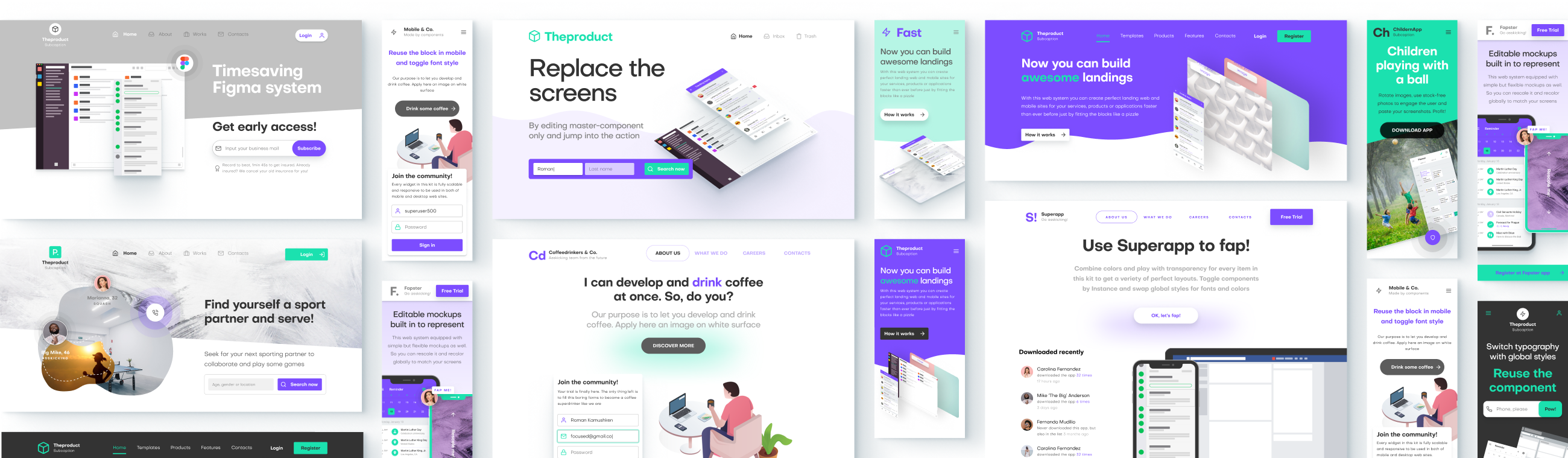 Figma Landing Pages Builder Web System Based On Components By Roman Kamushken Medium