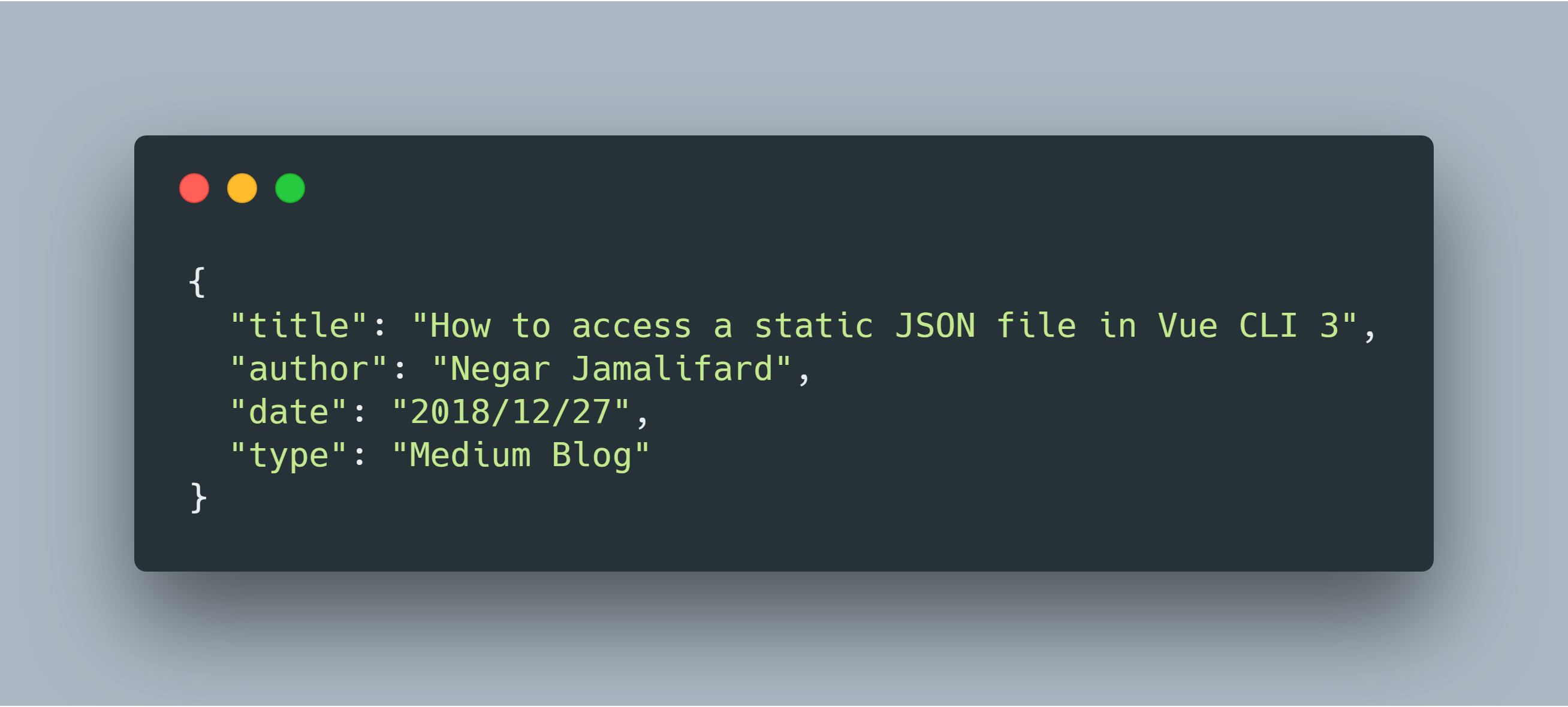 How to access a static JSON file in Vue CLI 3? - Negar