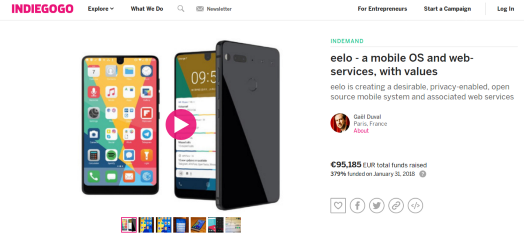 eelo is back on Indiegogo, new website, and a short-term plan