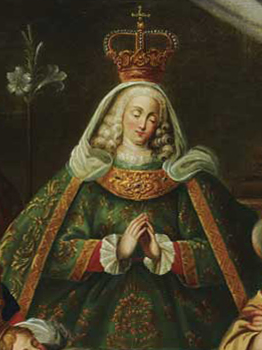 Sister Paula depicted as Virgin Mary in painting