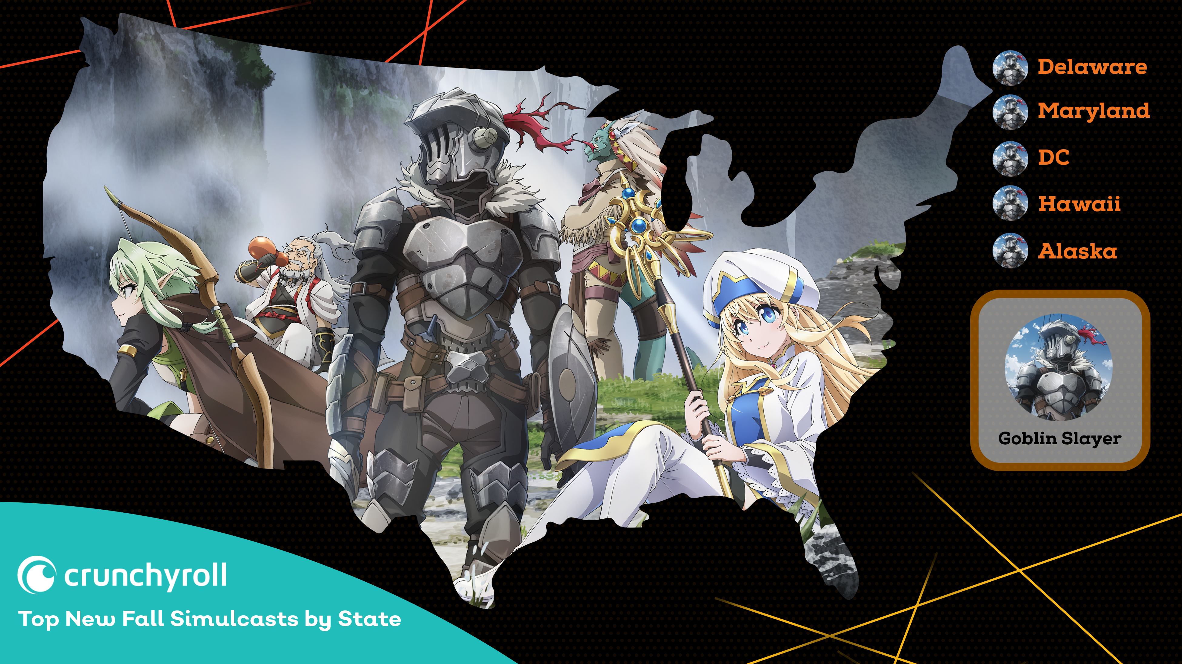 Crunchyroll's Most Popular Fall 2018 Anime by State