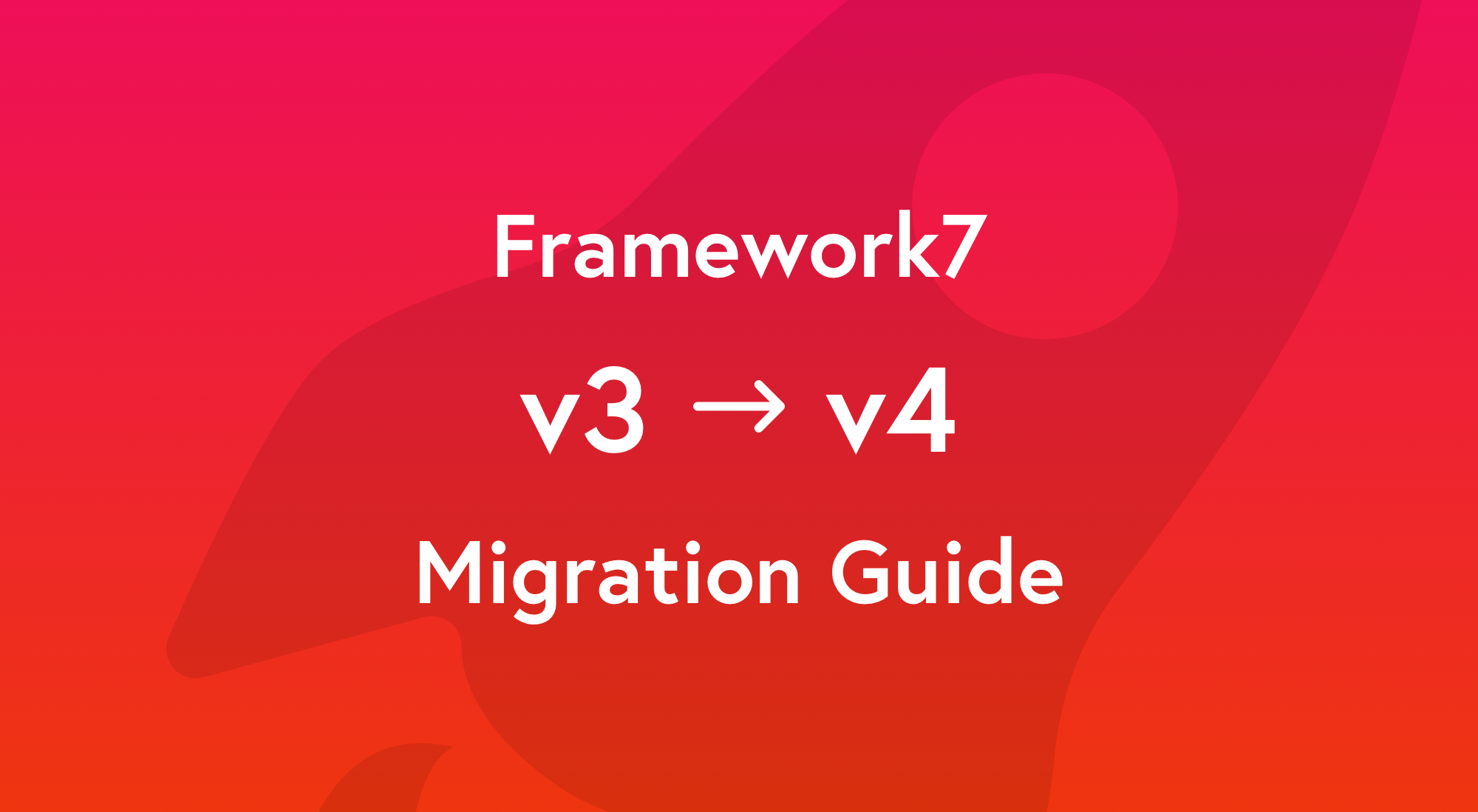 Migration To Framework7 v4 - Framework7 Blog